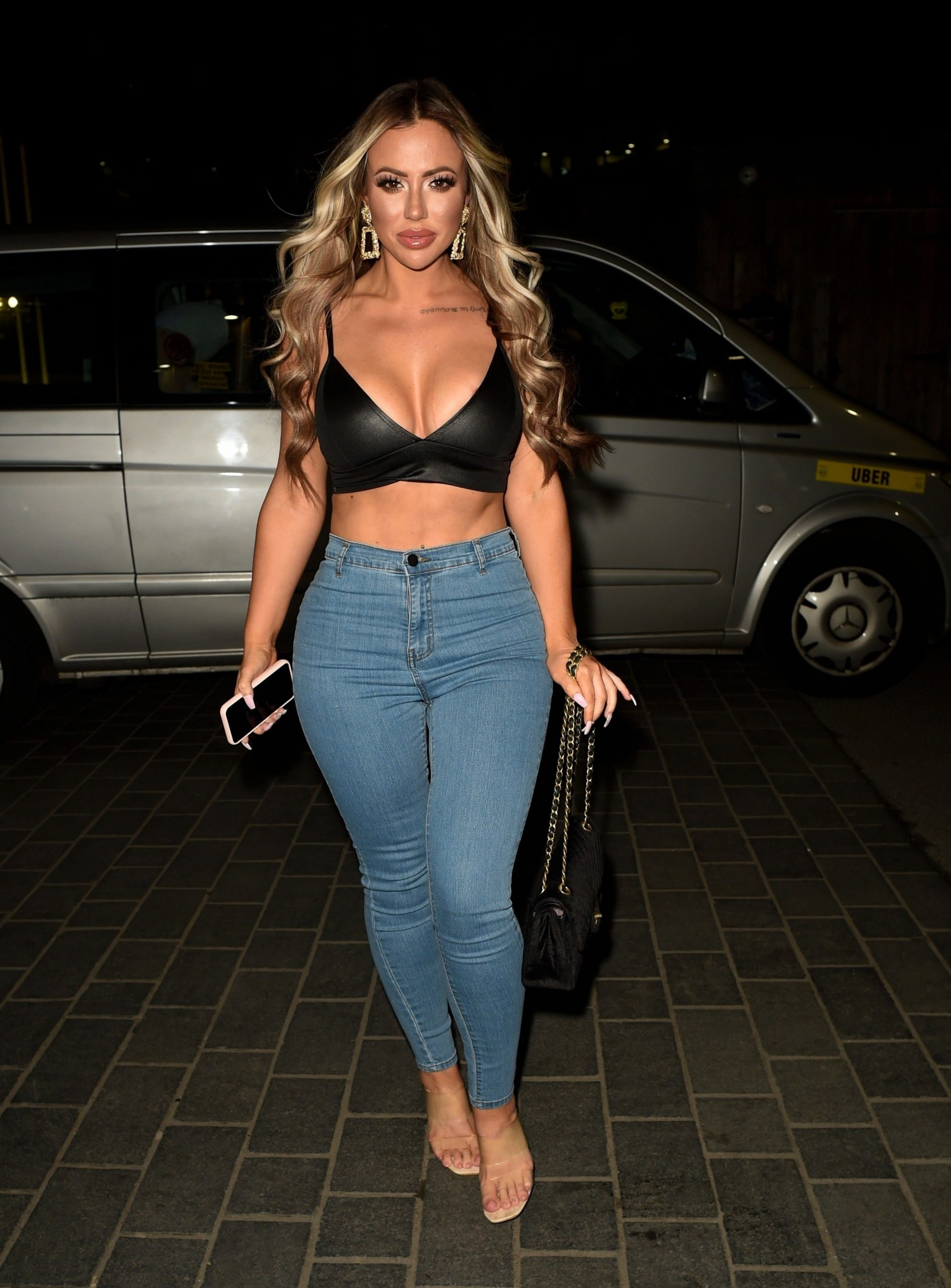 Holly Hagan Shows Off Her Sexy Figure On A Girls Night Out 0001