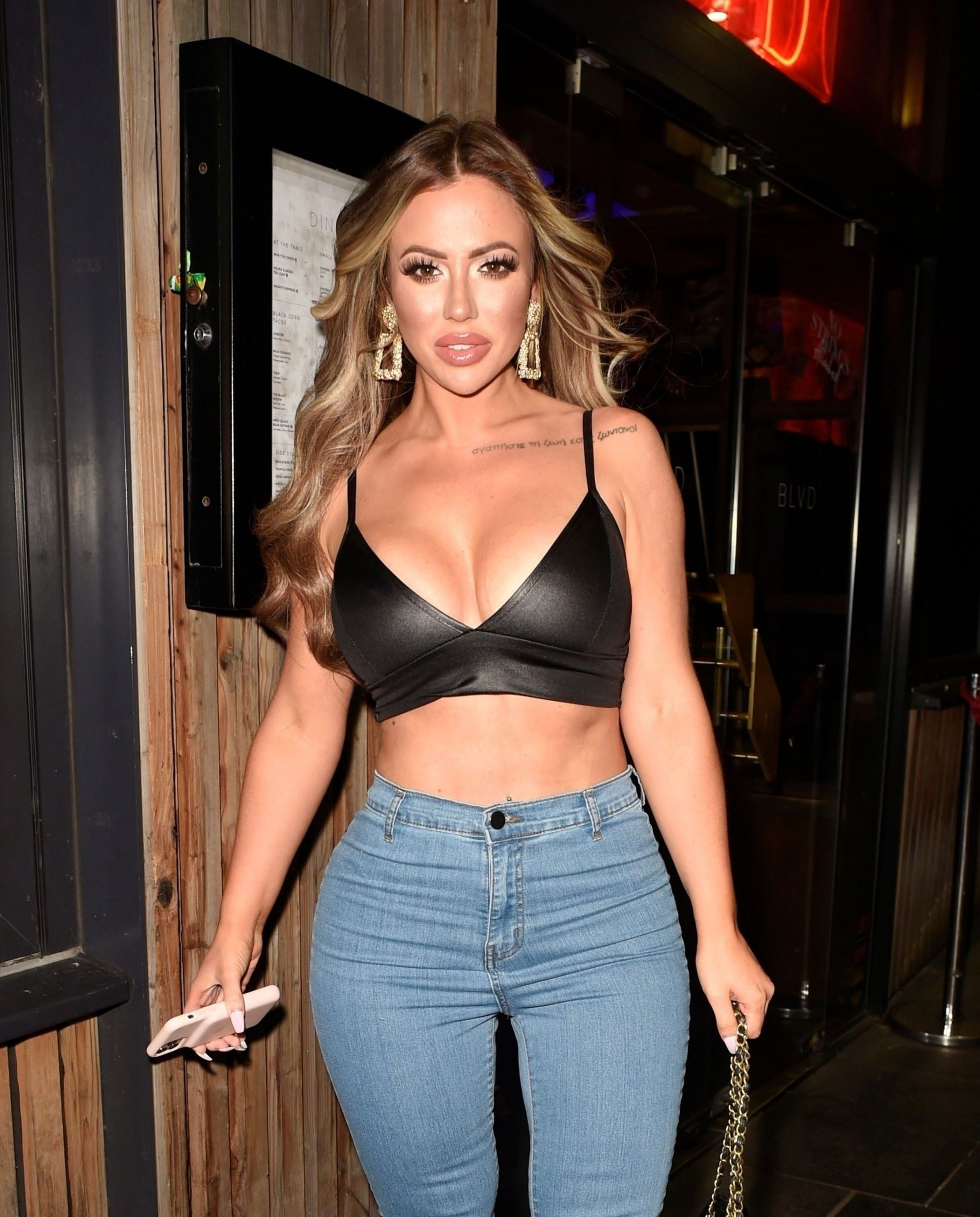 Holly Hagan Shows Off Her Sexy Figure On A Girls Night Out 0035