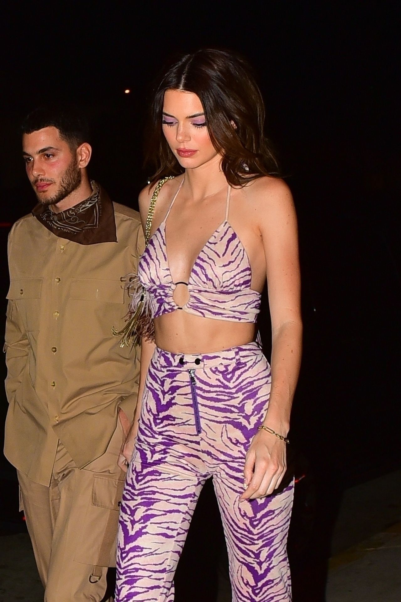 Kendall Jenner Gets Camera Shy While Leaving A Party At Shorebar 0032