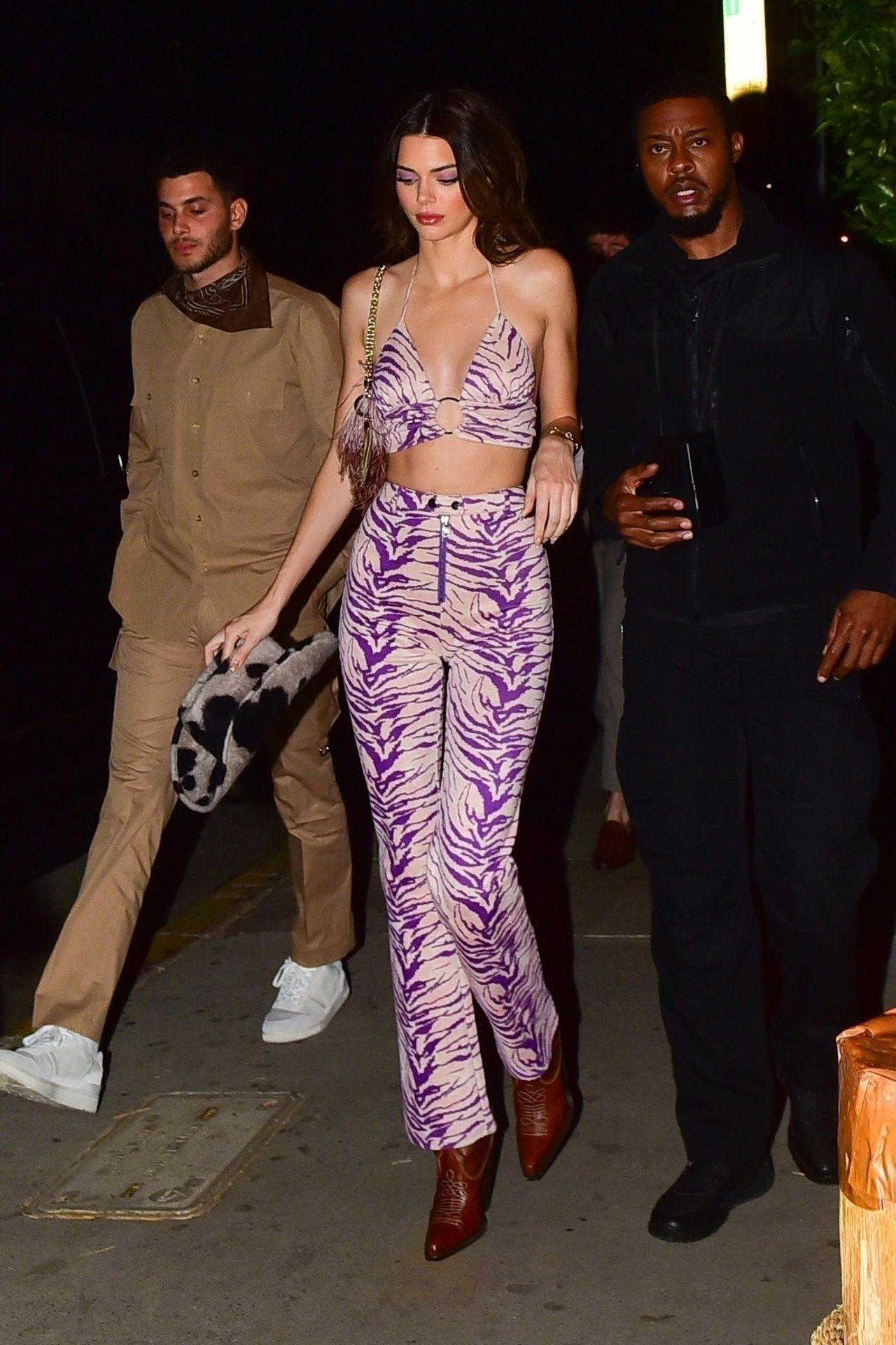 Kendall Jenner Gets Camera Shy While Leaving A Party At Shorebar 0045