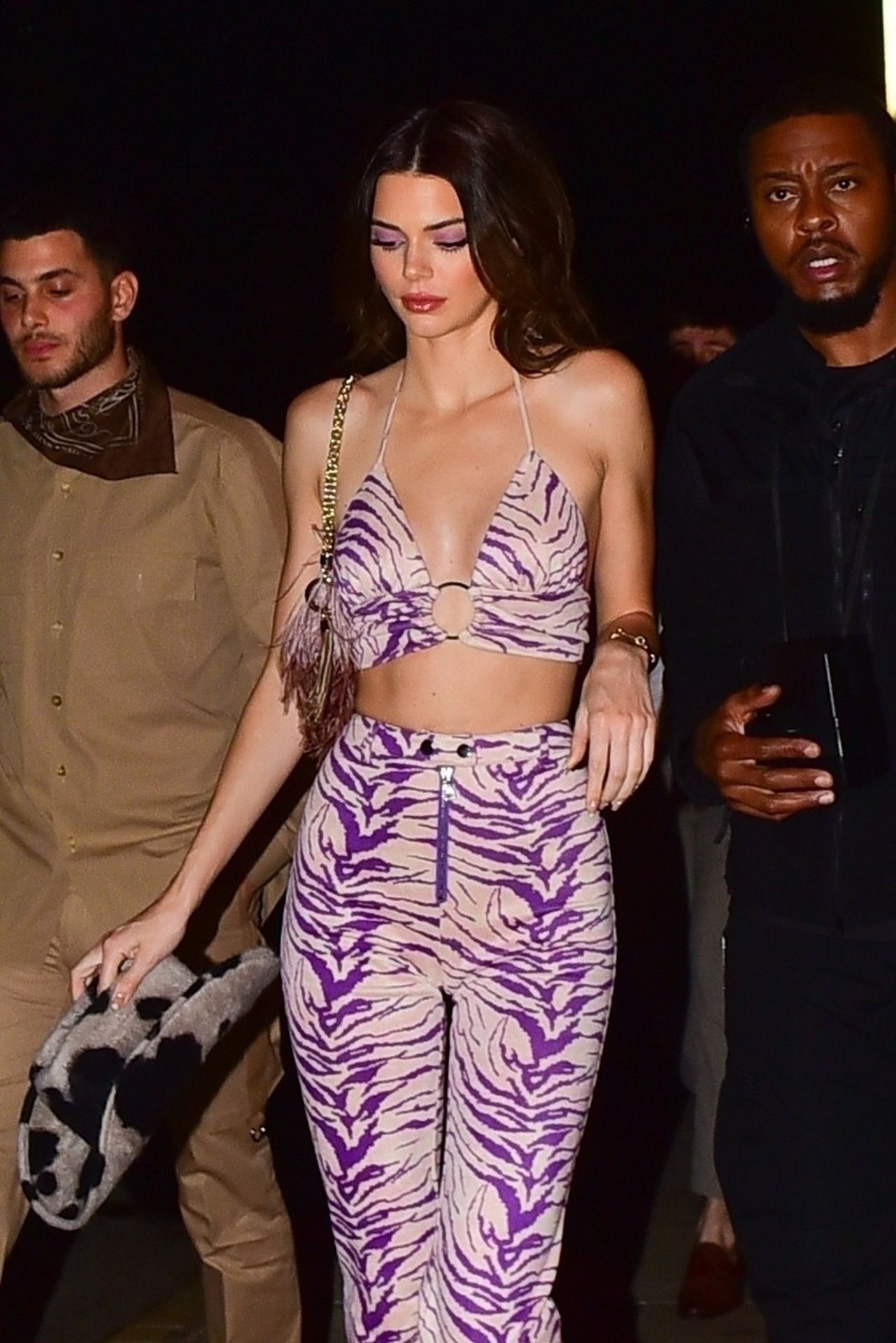 Kendall Jenner Gets Camera Shy While Leaving A Party At Shorebar 0052