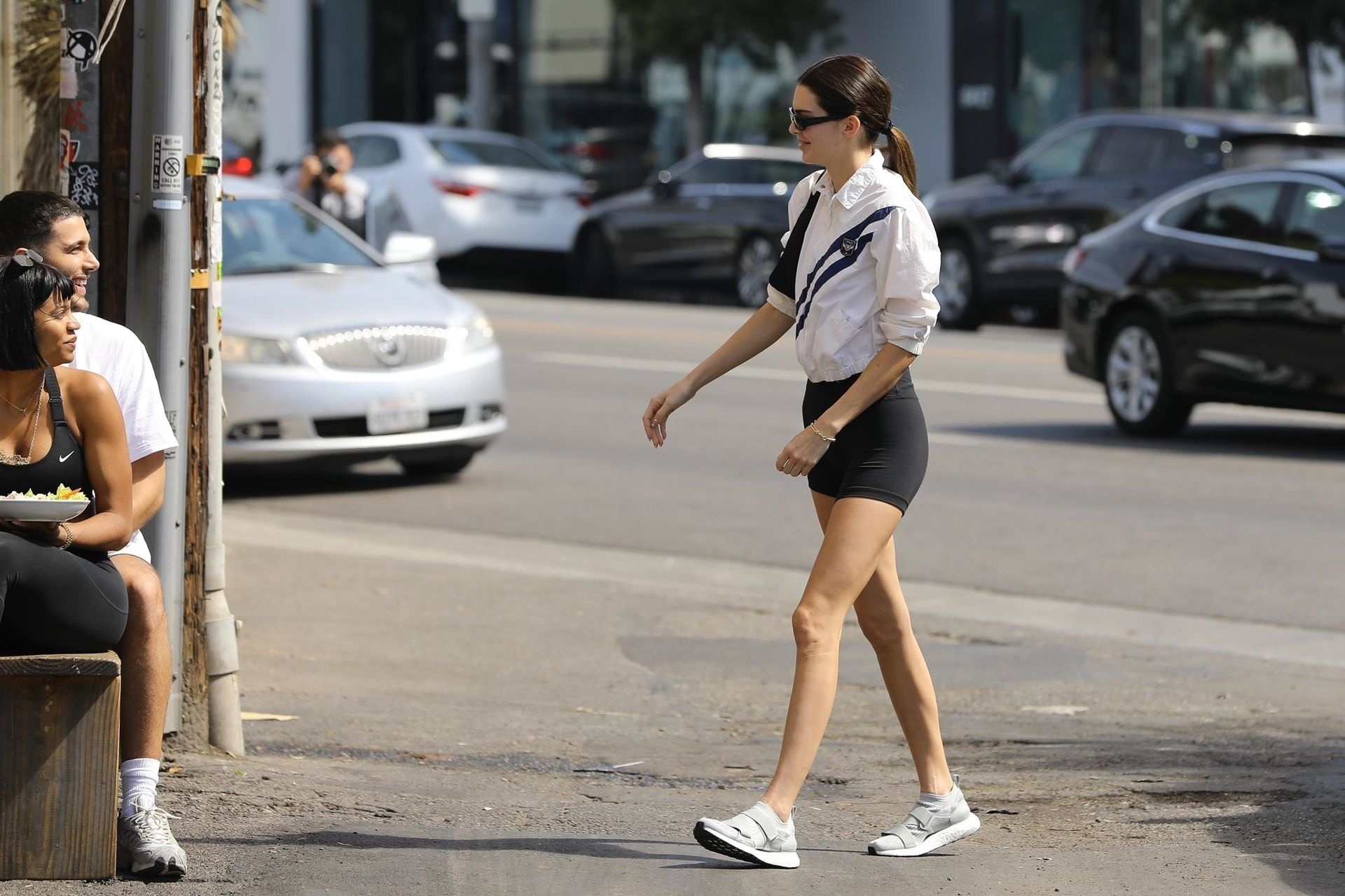 Kendall Jenner Showcases Her Cellulite Legs In Tiny Spandex Shorts In Los Angeles 0014