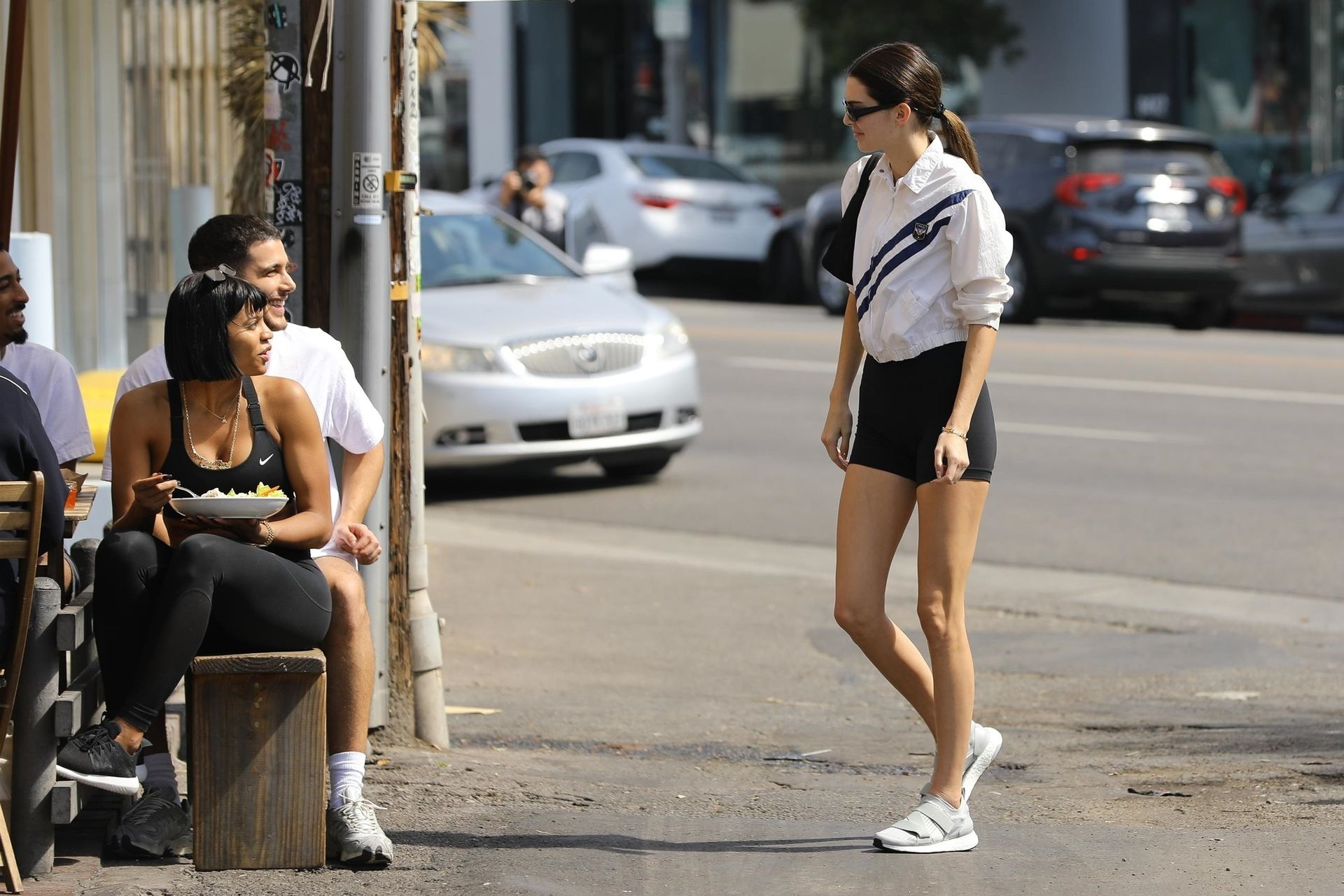 Kendall Jenner Showcases Her Cellulite Legs In Tiny Spandex Shorts In Los Angeles 0015