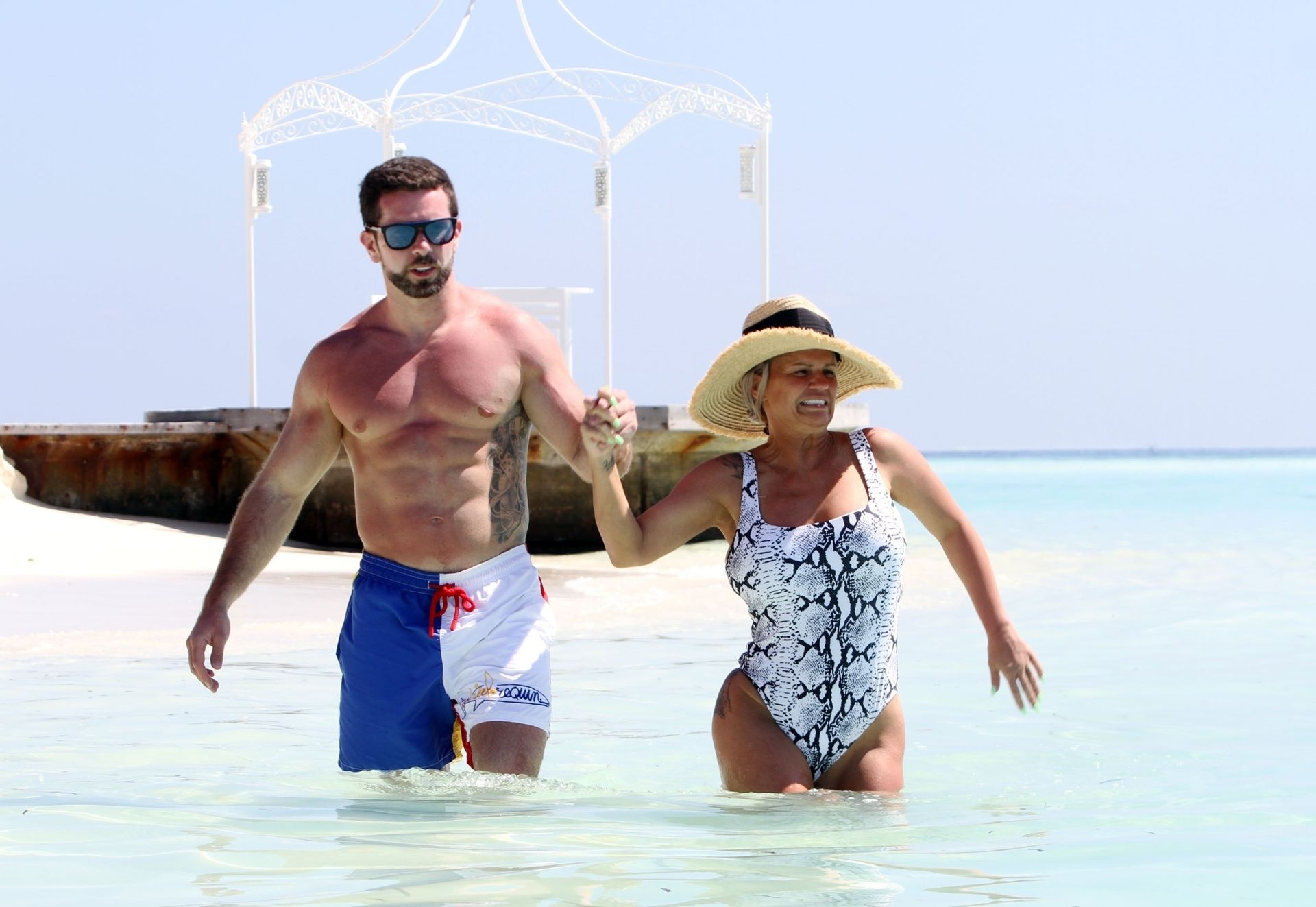 Kerry Katona & Ryan Mahoney Hit The Beach On Holiday At Their Luxury 5 Star Resort Ayada Maldives 0026