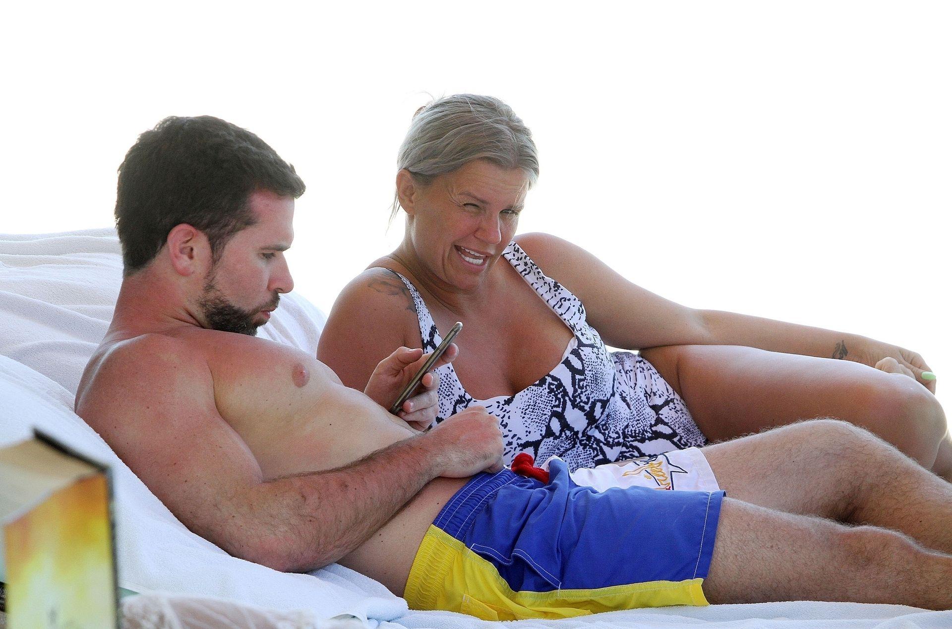 Kerry Katona & Ryan Mahoney Hit The Beach On Holiday At Their Luxury 5 Star Resort Ayada Maldives 0037