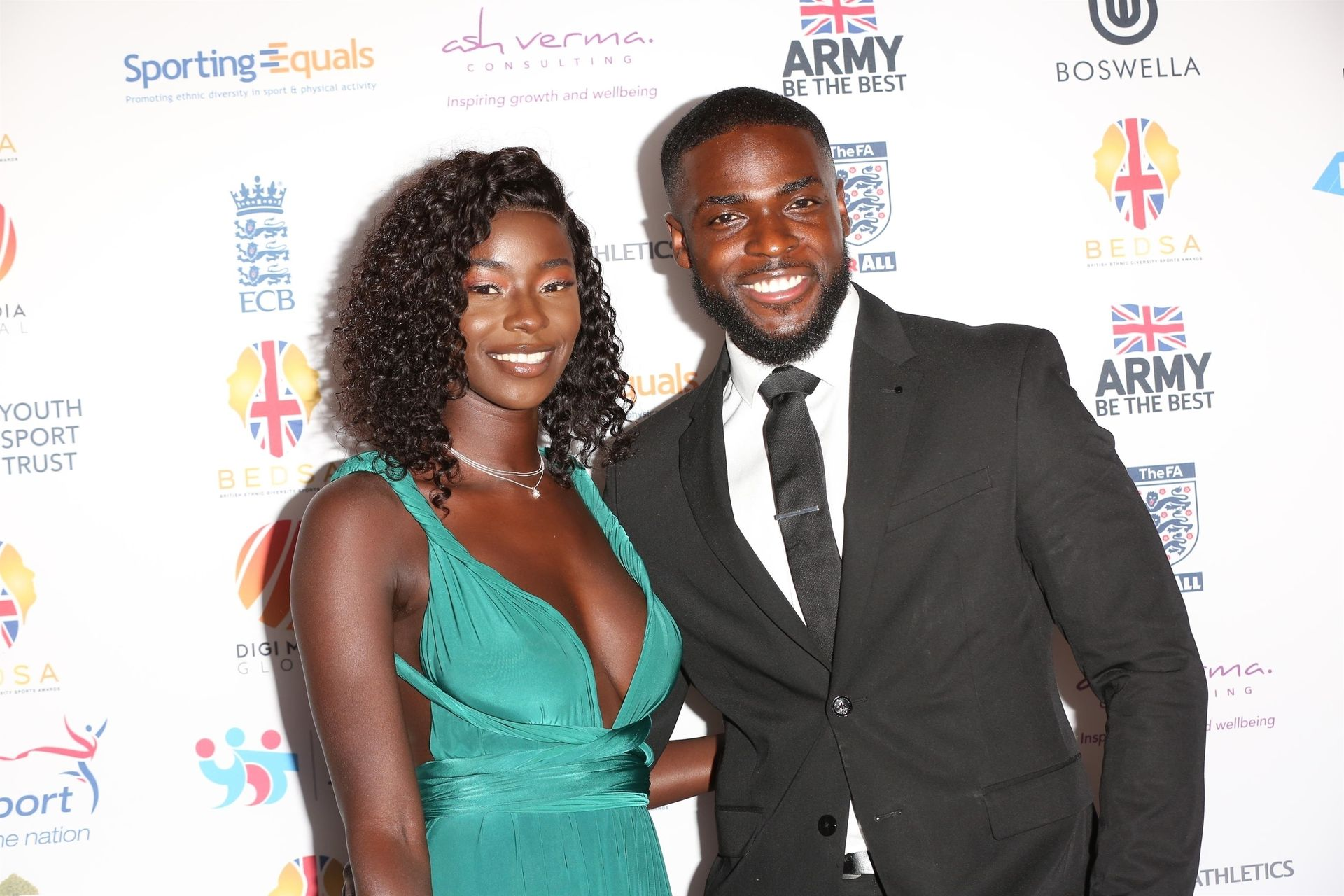 Mike Boateng & Priscilla Anyabu Are Seen At British Ethnic Diversity Sports Awards 0018