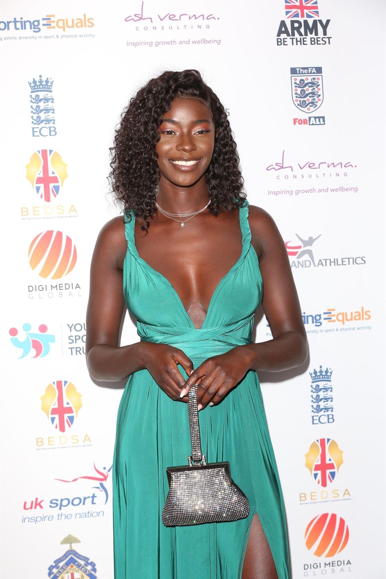 Mike Boateng & Priscilla Anyabu Are Seen At British Ethnic Diversity Sports Awards 0020