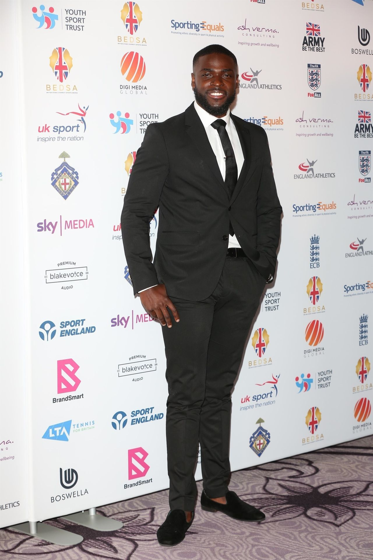 Mike Boateng & Priscilla Anyabu Are Seen At British Ethnic Diversity Sports Awards 0026