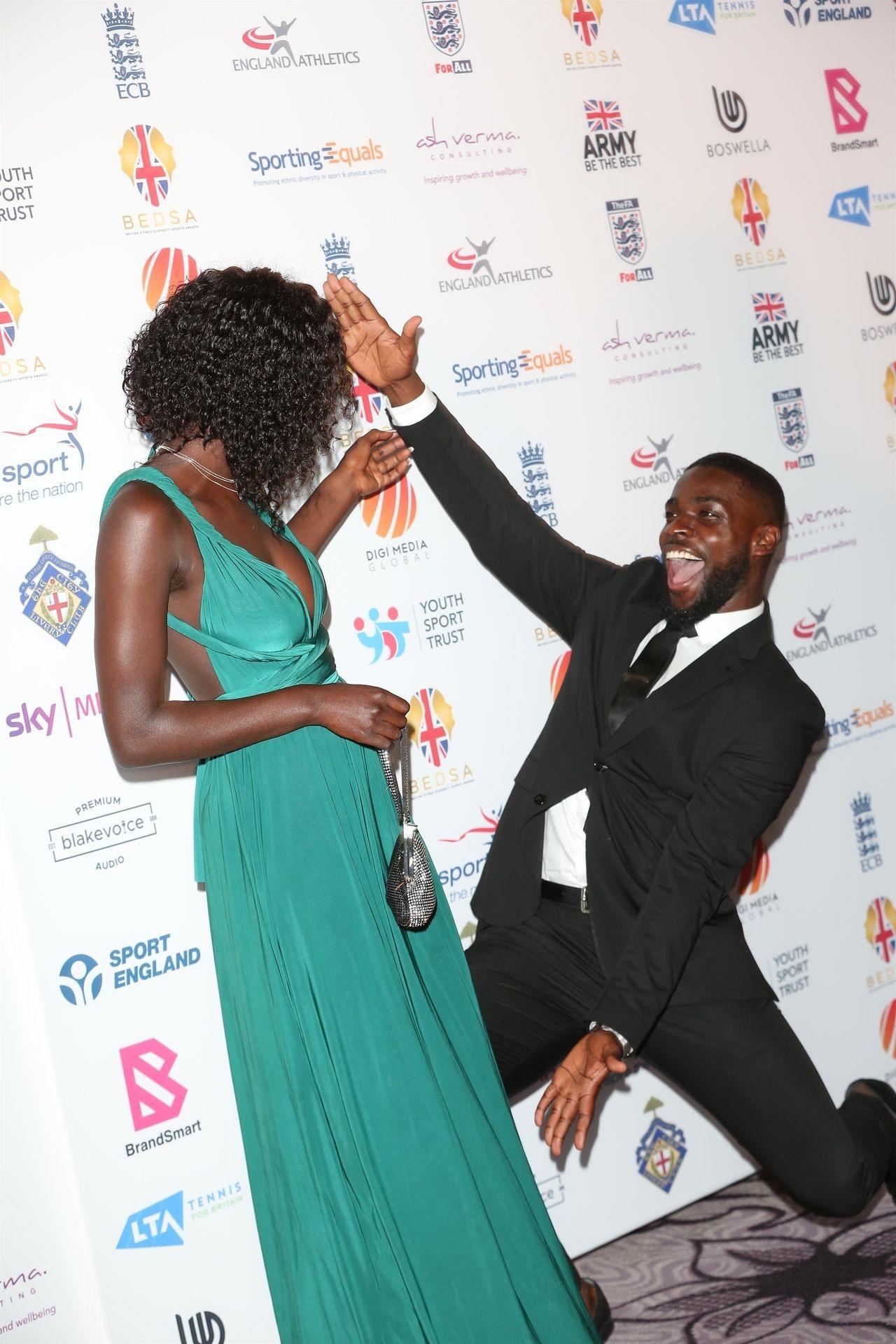 Mike Boateng & Priscilla Anyabu Are Seen At British Ethnic Diversity Sports Awards 0032