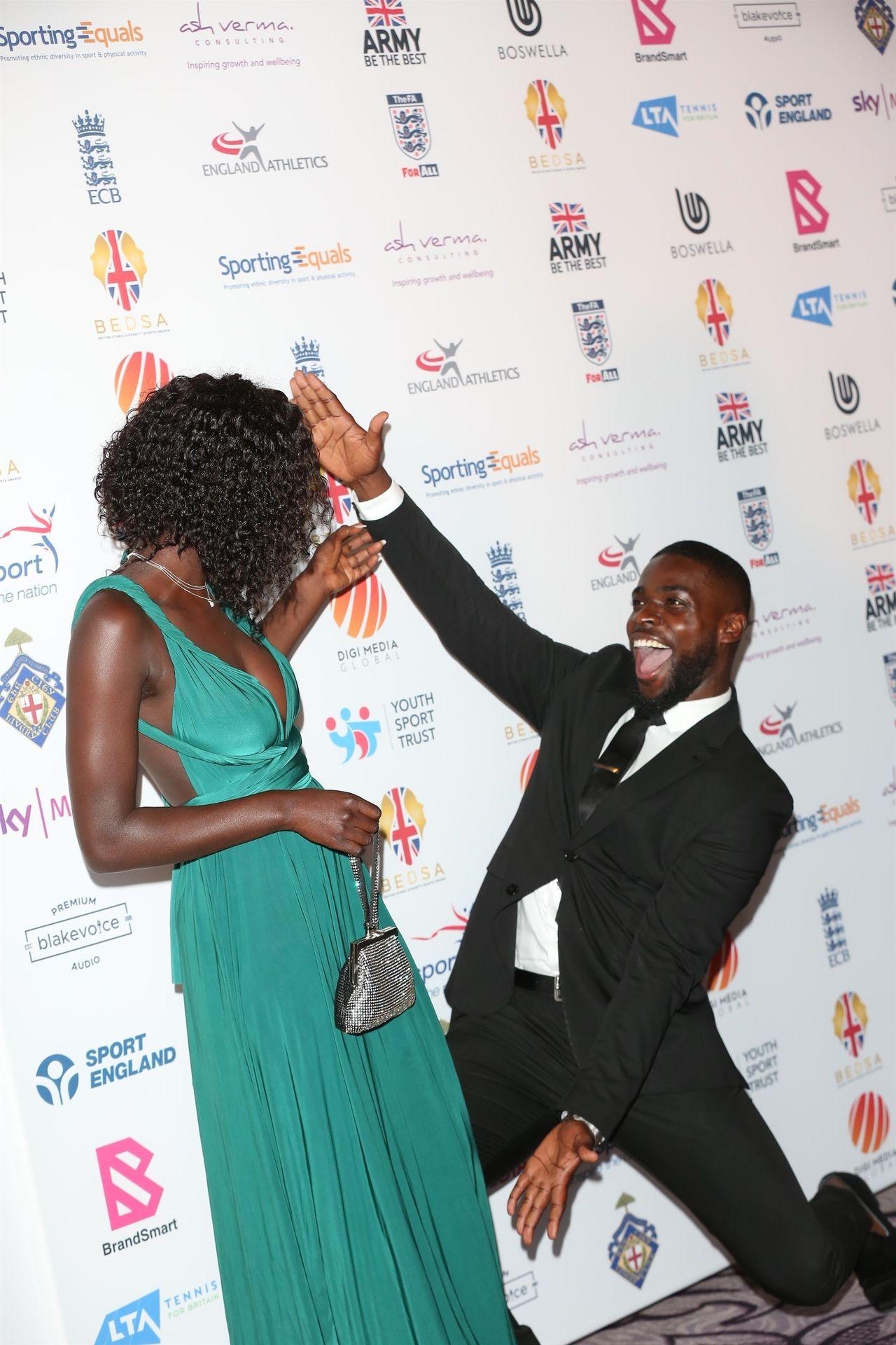 Mike Boateng & Priscilla Anyabu Are Seen At British Ethnic Diversity Sports Awards 0033