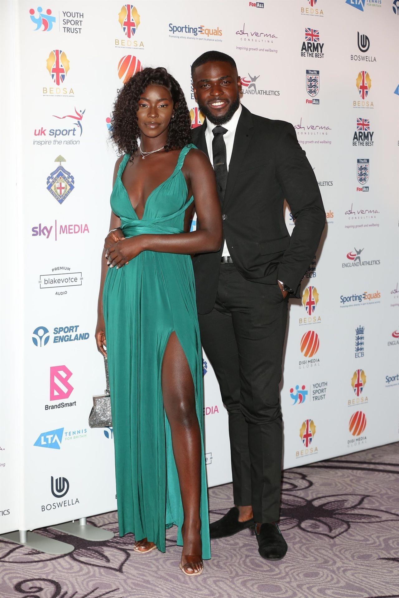 Mike Boateng & Priscilla Anyabu Are Seen At British Ethnic Diversity Sports Awards 0035