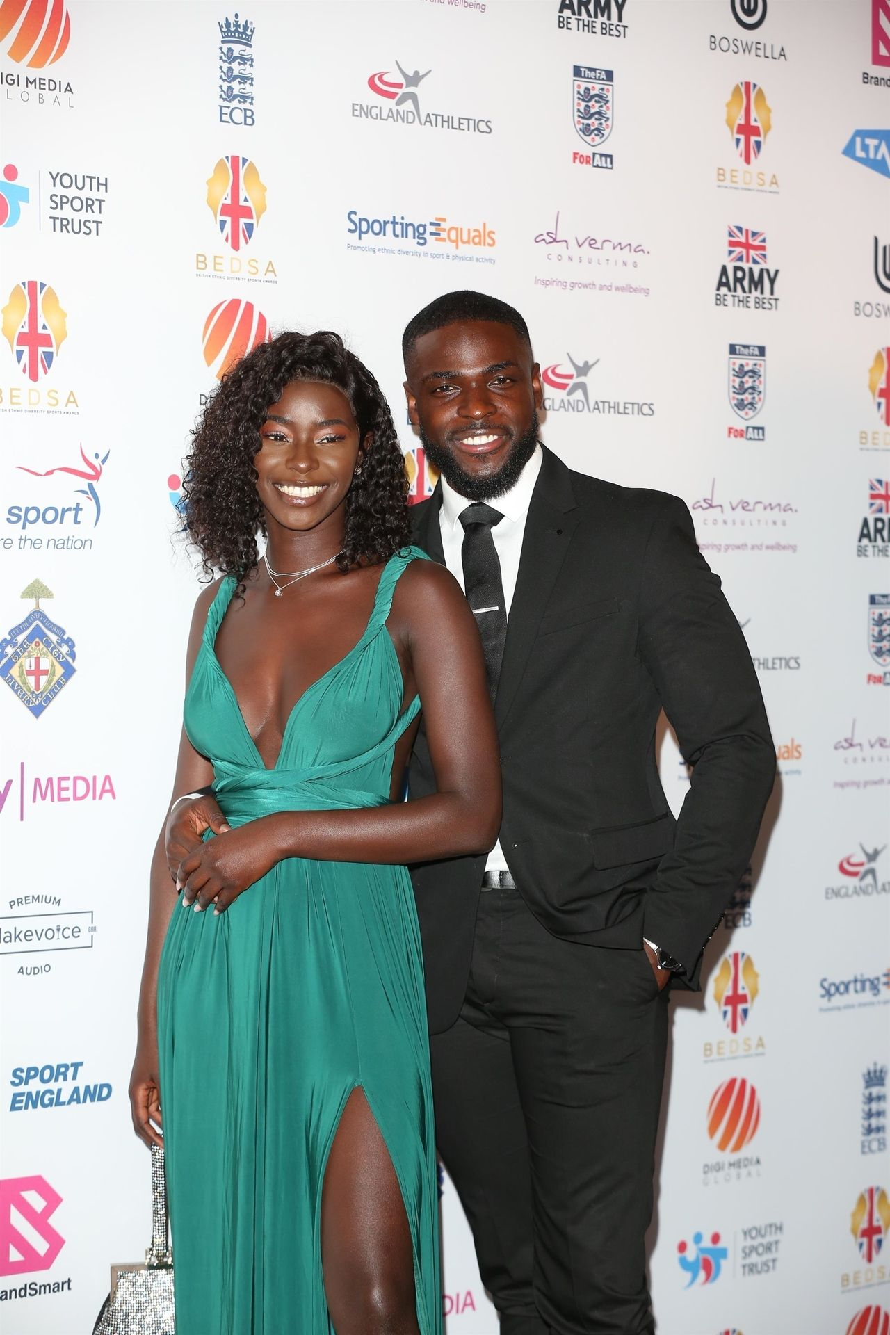 Mike Boateng & Priscilla Anyabu Are Seen At British Ethnic Diversity Sports Awards 0036