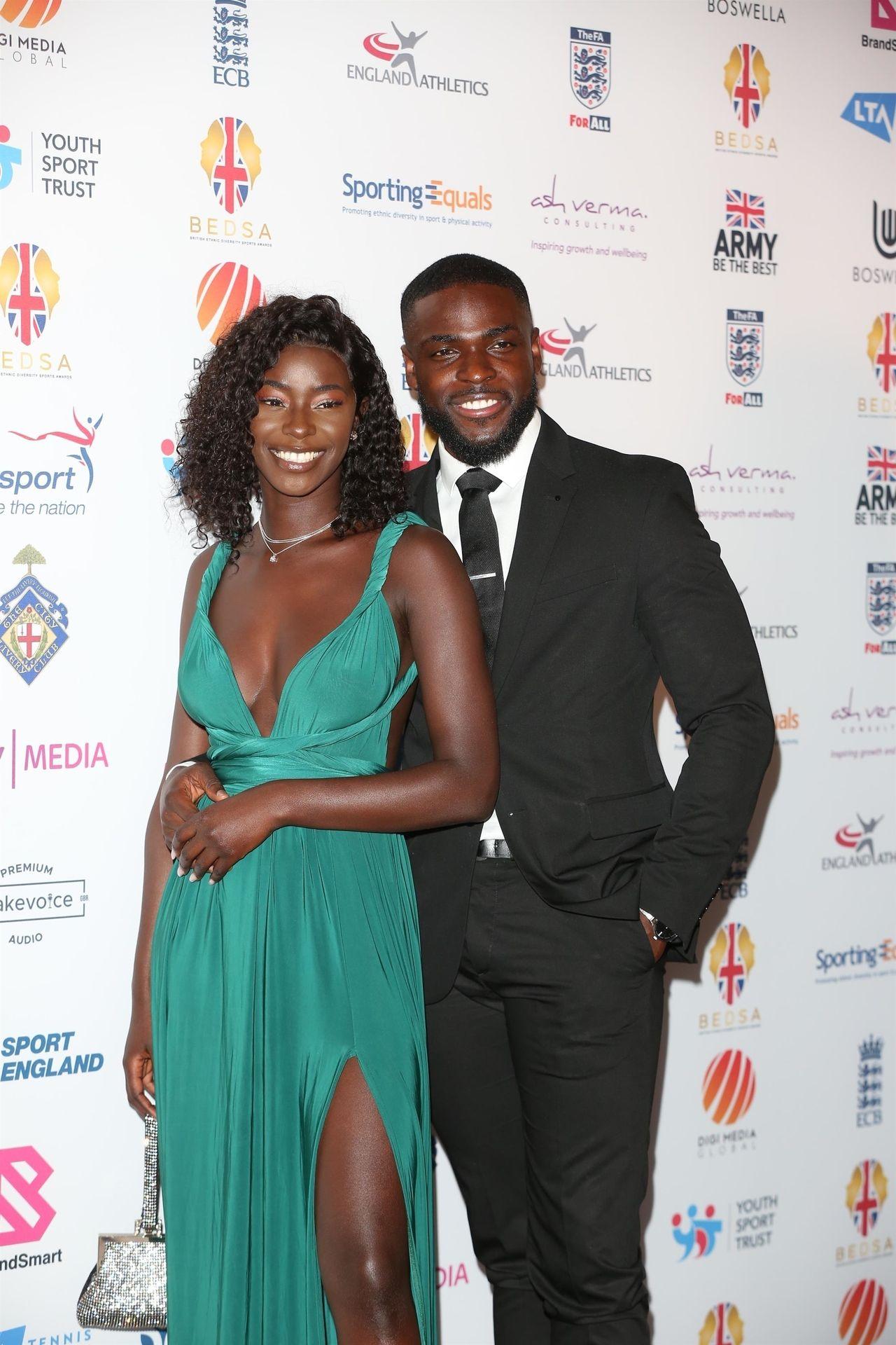 Mike Boateng & Priscilla Anyabu Are Seen At British Ethnic Diversity Sports Awards 0037