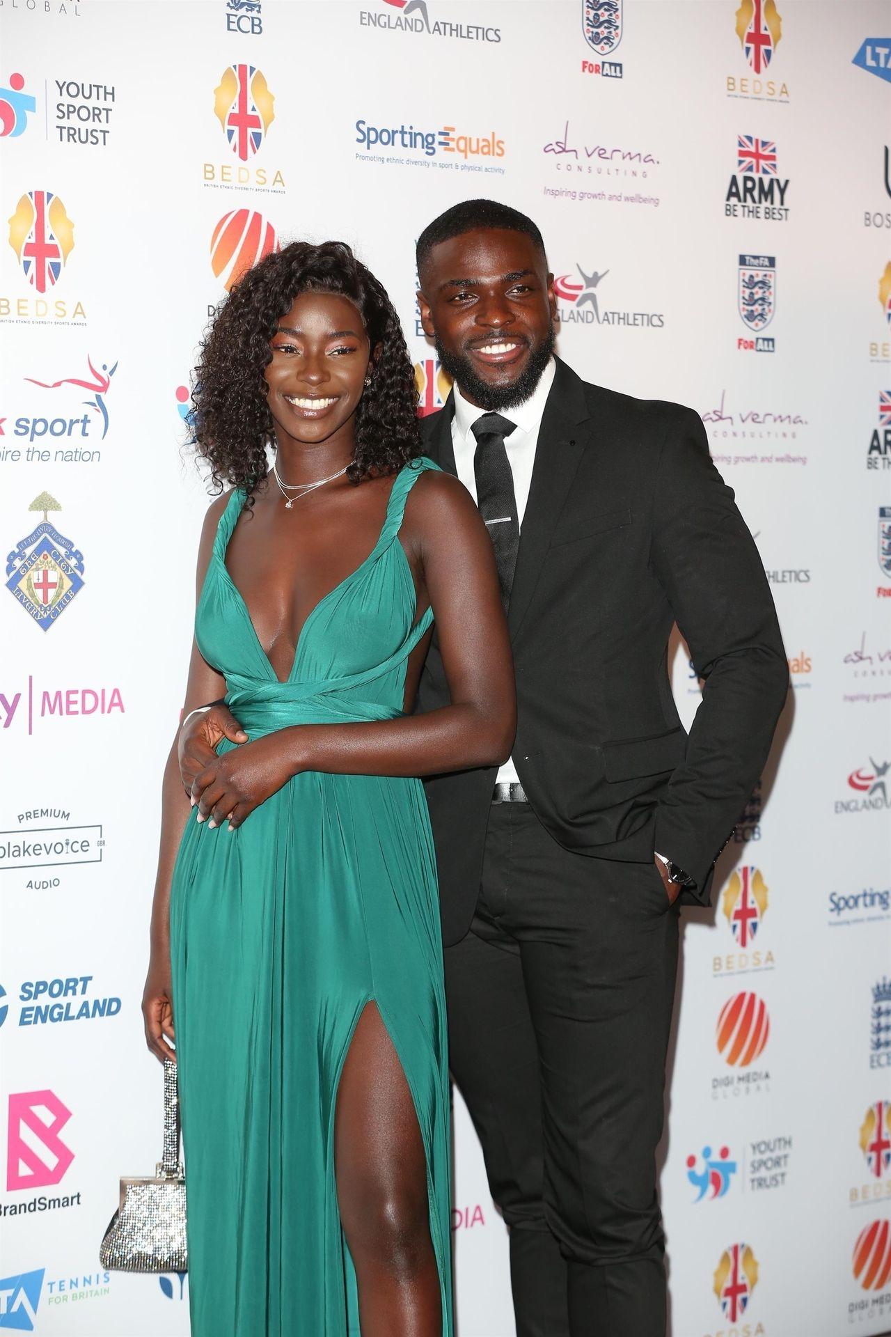 Mike Boateng & Priscilla Anyabu Are Seen At British Ethnic Diversity Sports Awards 0038