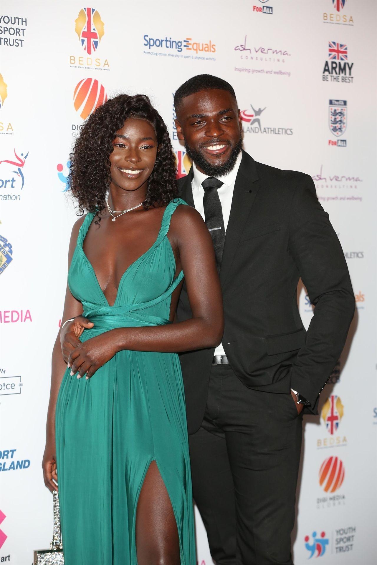 Mike Boateng & Priscilla Anyabu Are Seen At British Ethnic Diversity Sports Awards 0040