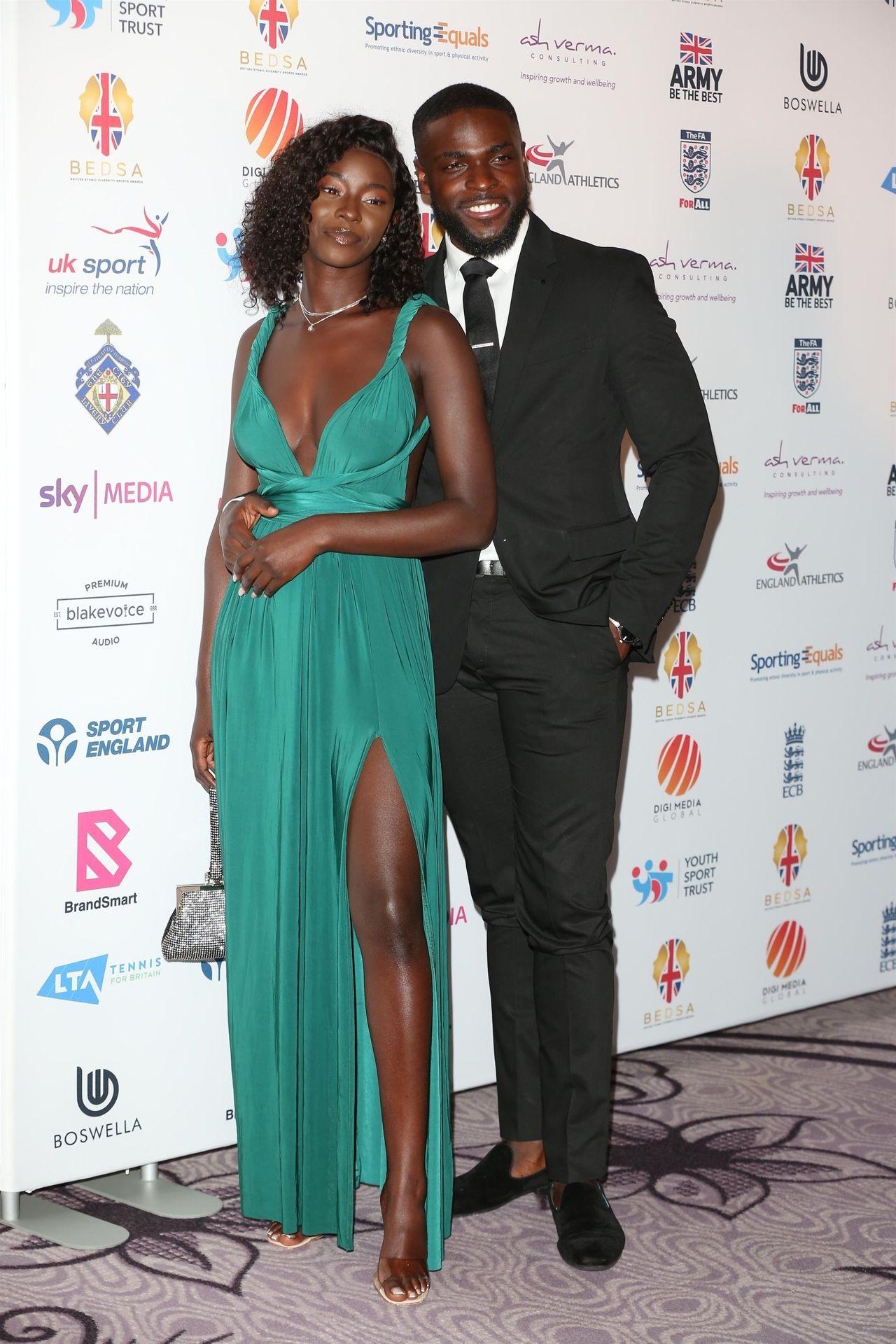 Mike Boateng & Priscilla Anyabu Are Seen At British Ethnic Diversity Sports Awards 0042