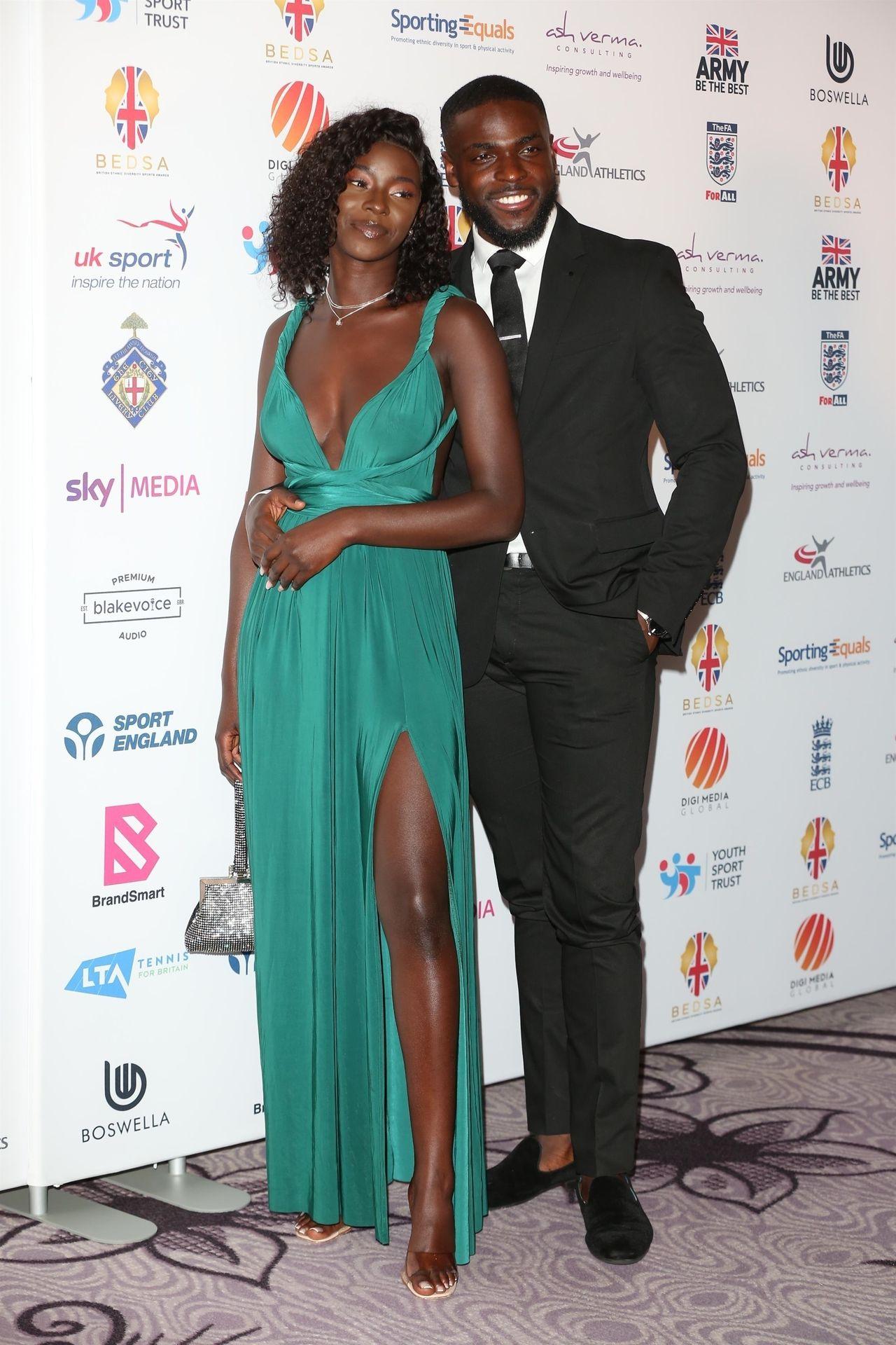 Mike Boateng & Priscilla Anyabu Are Seen At British Ethnic Diversity Sports Awards 0043