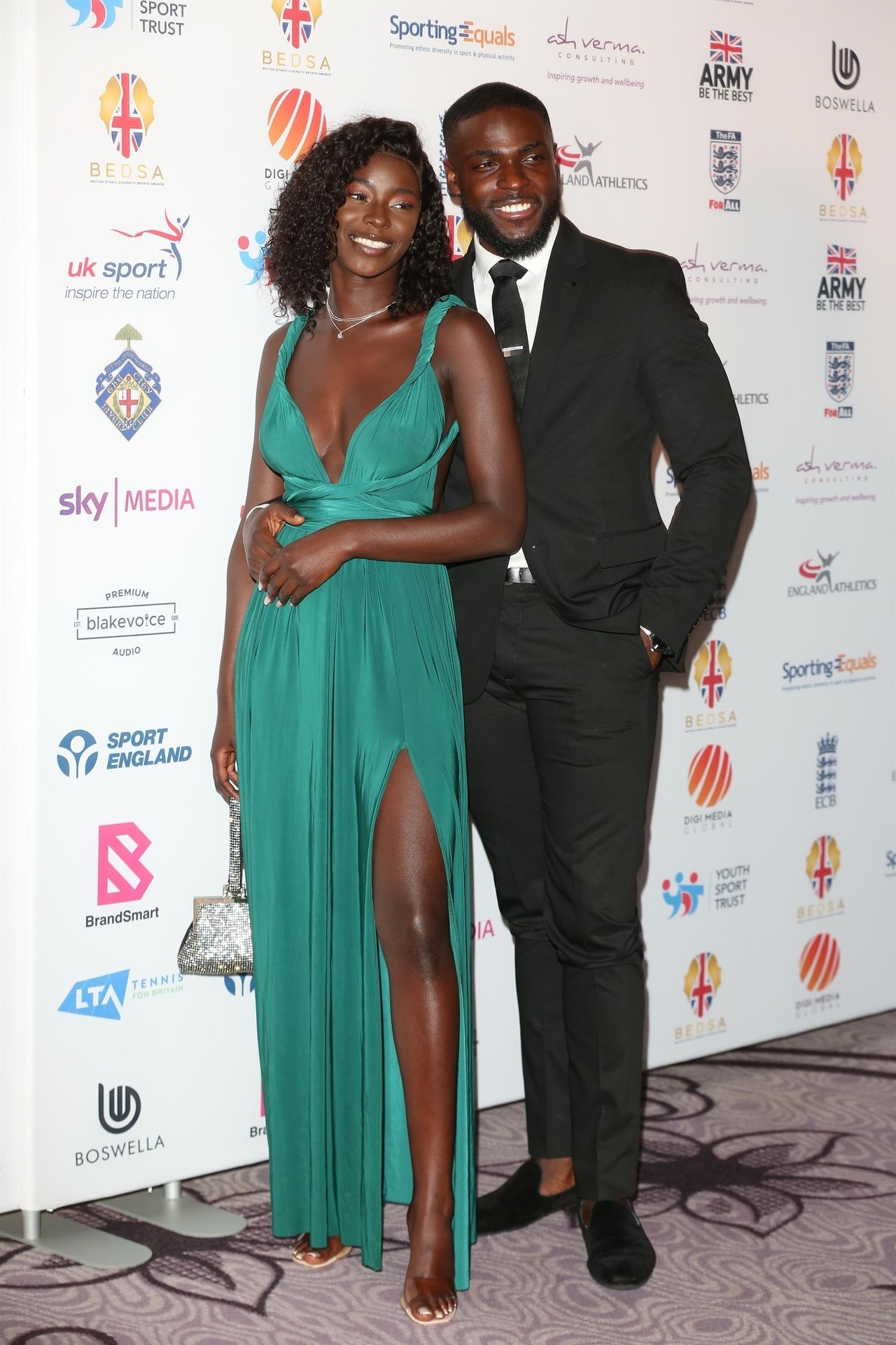 Mike Boateng & Priscilla Anyabu Are Seen At British Ethnic Diversity Sports Awards 0044