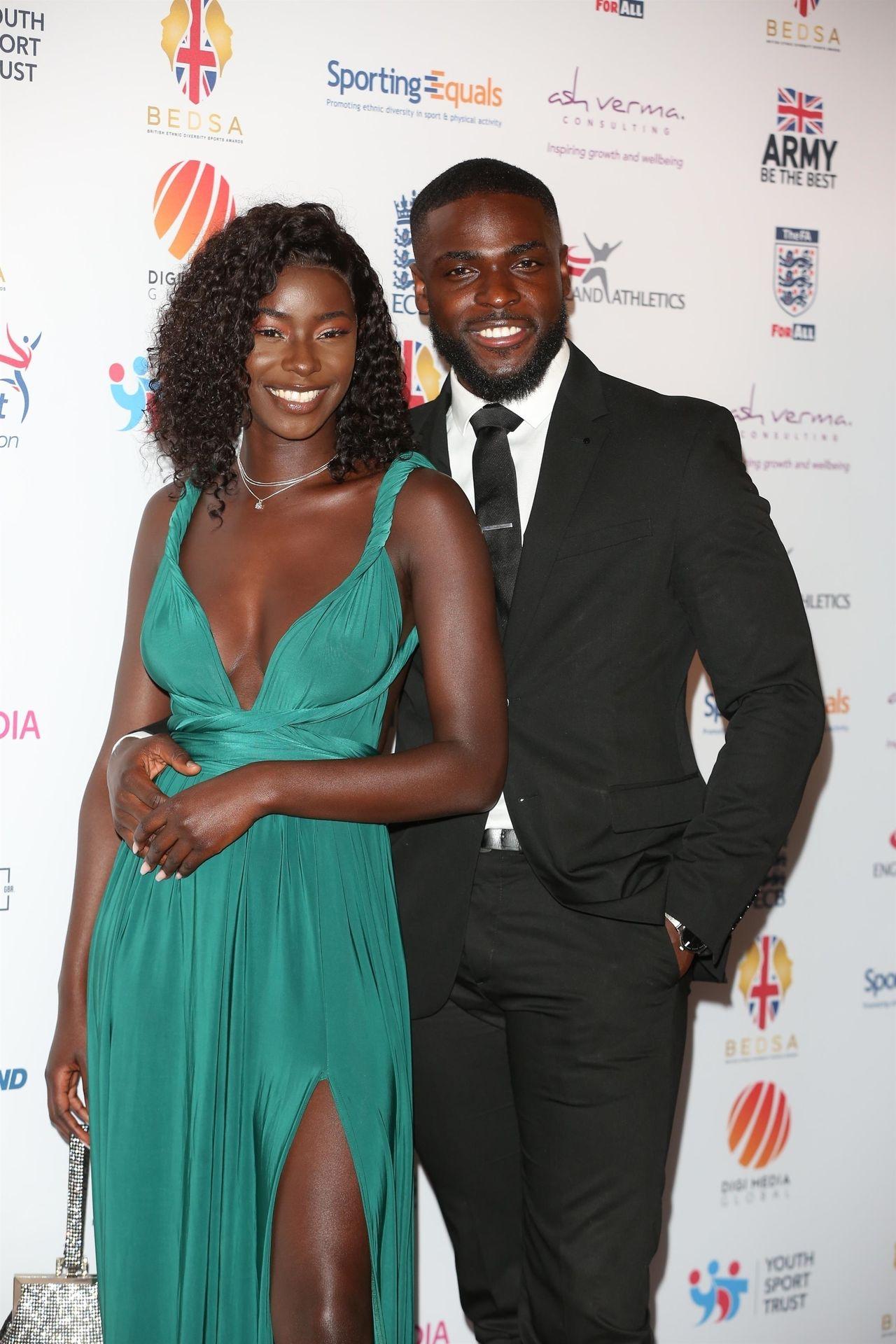 Mike Boateng & Priscilla Anyabu Are Seen At British Ethnic Diversity Sports Awards 0049