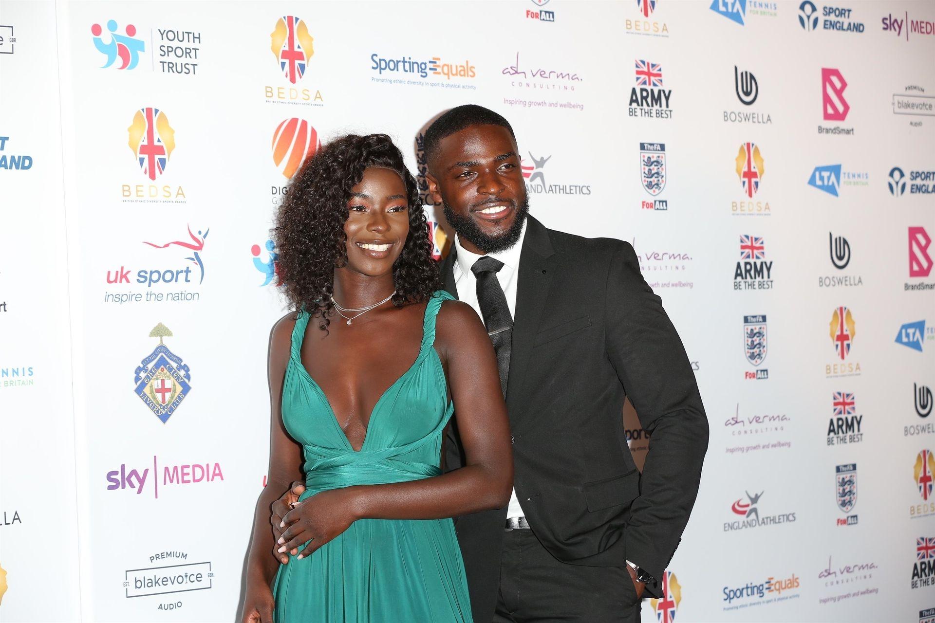 Mike Boateng & Priscilla Anyabu Are Seen At British Ethnic Diversity Sports Awards 0055