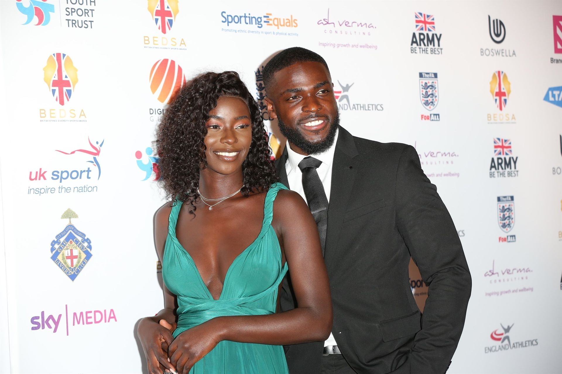 Mike Boateng & Priscilla Anyabu Are Seen At British Ethnic Diversity Sports Awards 0056