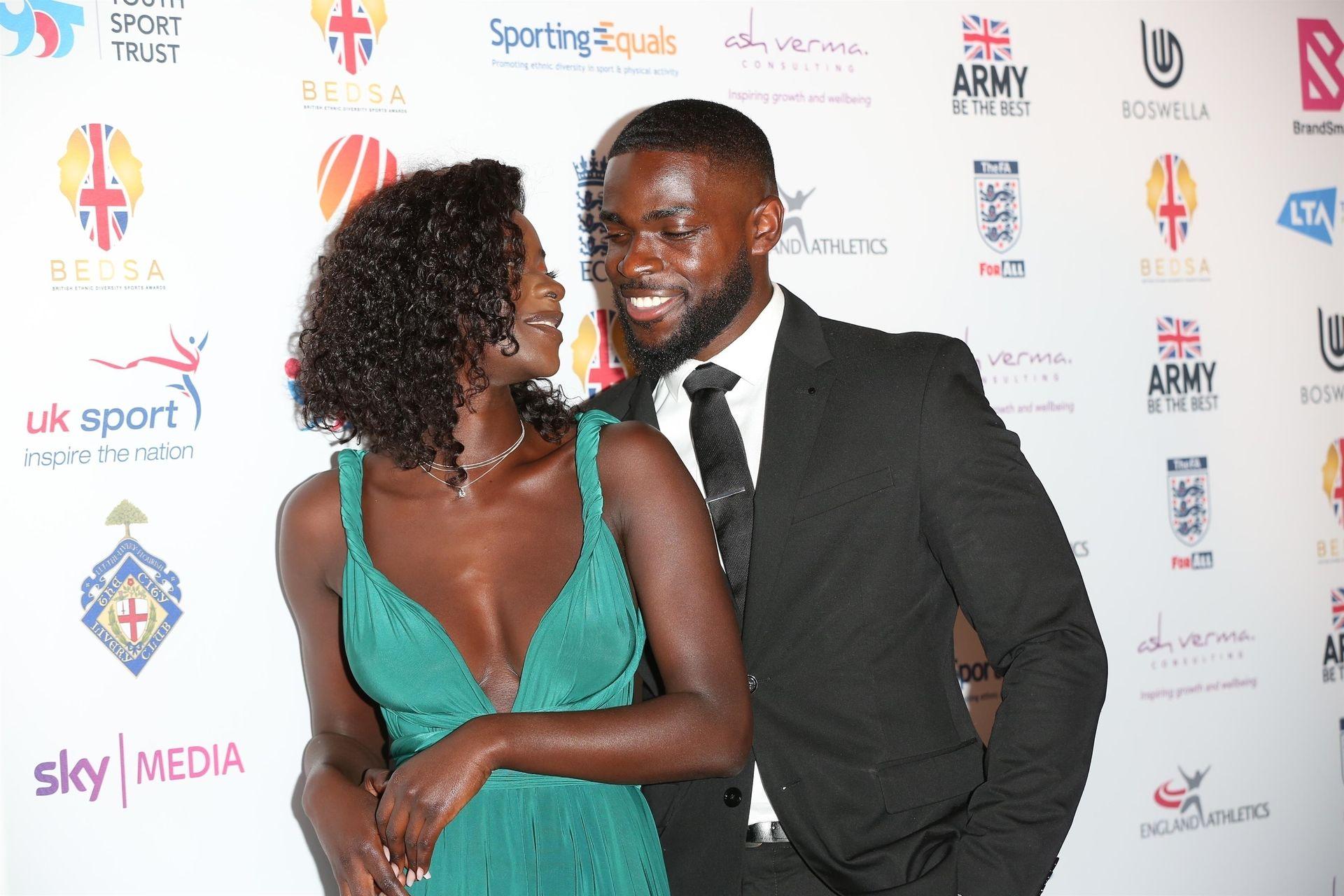Mike Boateng & Priscilla Anyabu Are Seen At British Ethnic Diversity Sports Awards 0057