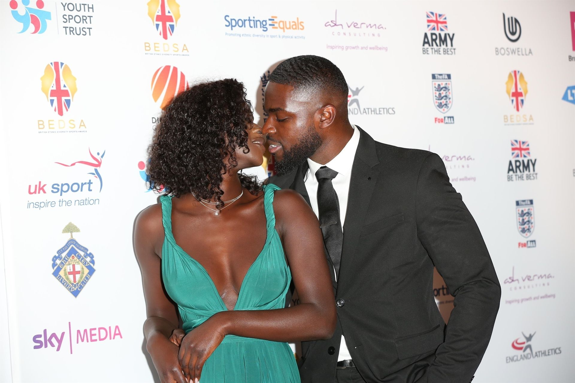 Mike Boateng & Priscilla Anyabu Are Seen At British Ethnic Diversity Sports Awards 0060