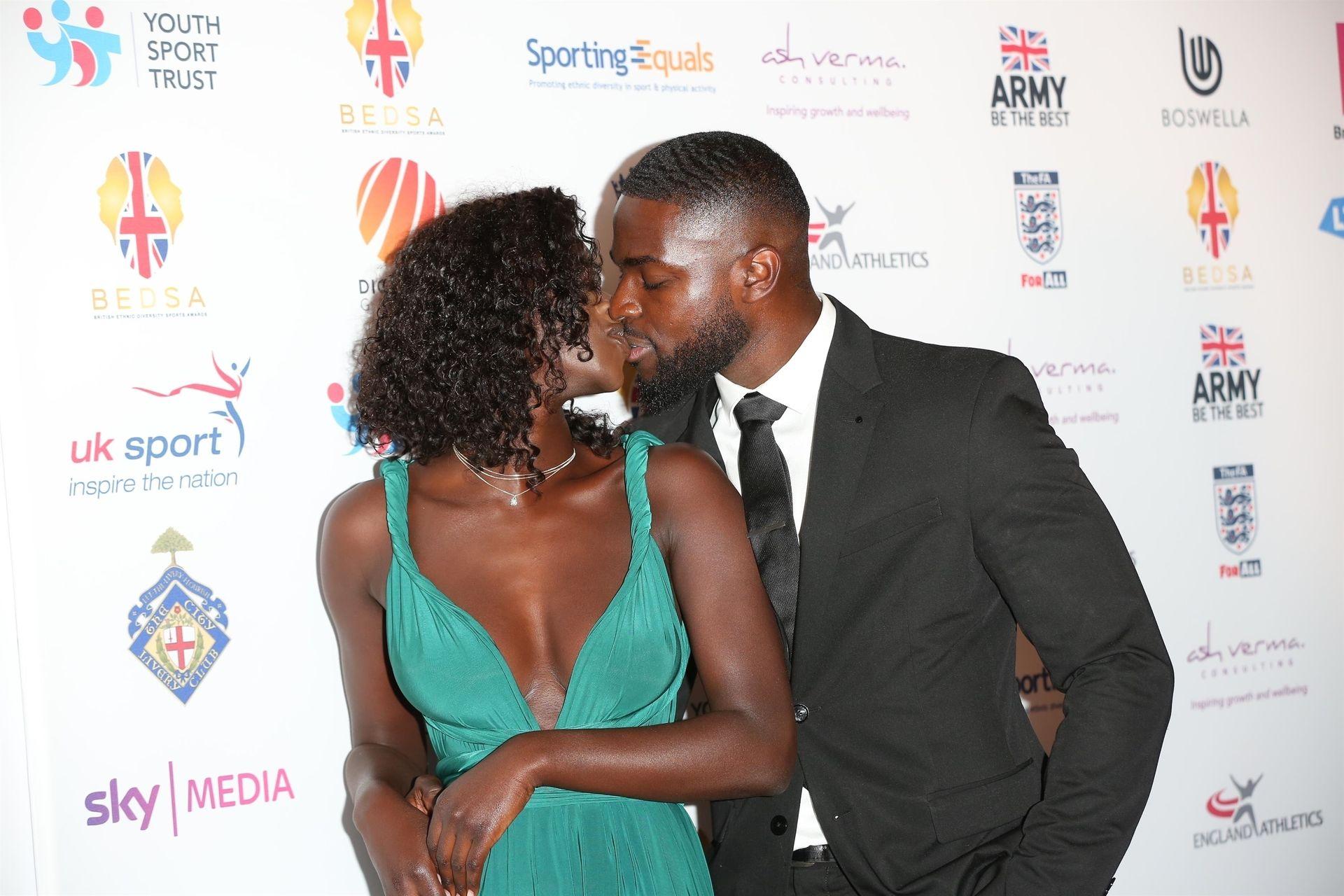 Mike Boateng & Priscilla Anyabu Are Seen At British Ethnic Diversity Sports Awards 0061