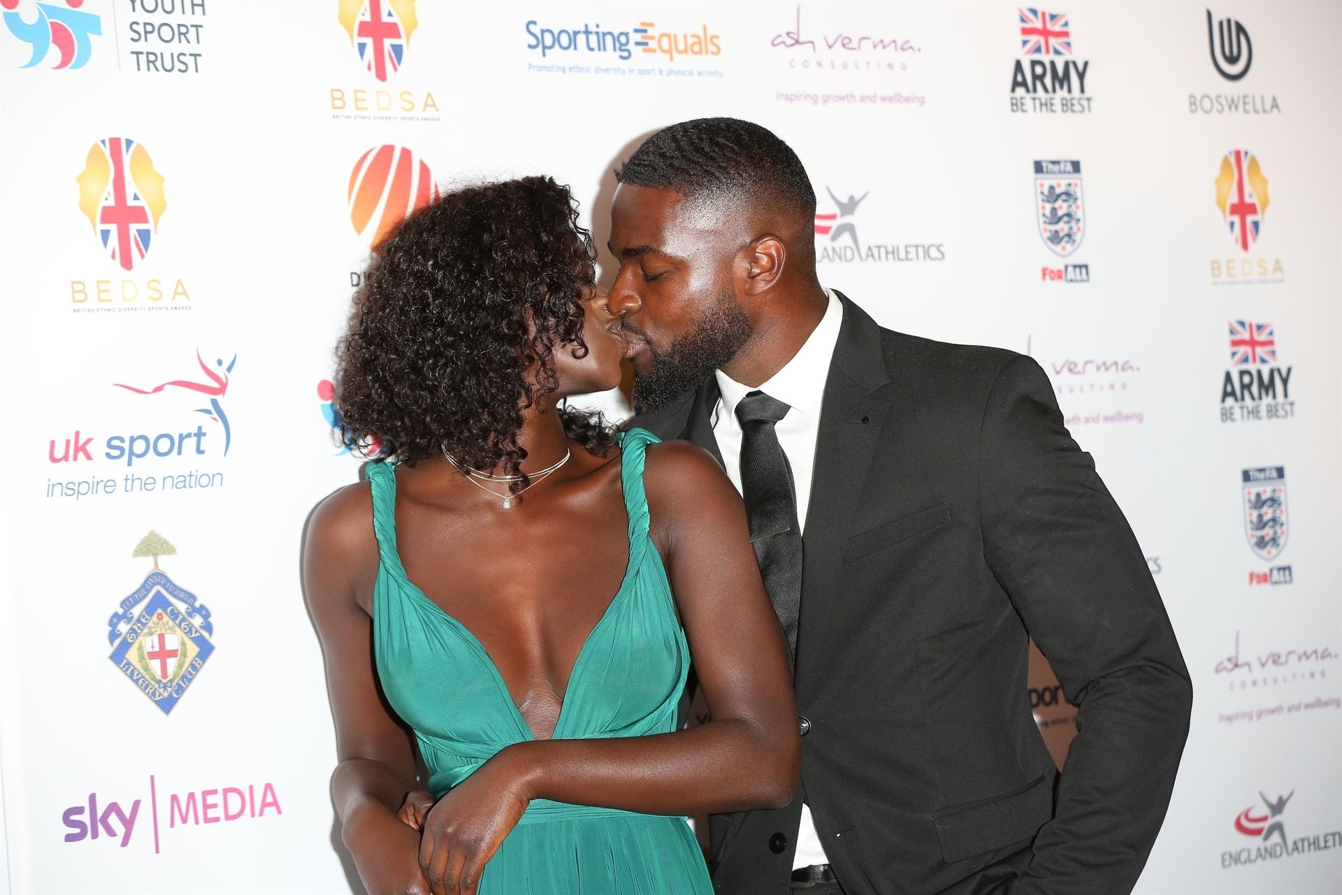 Mike Boateng & Priscilla Anyabu Are Seen At British Ethnic Diversity Sports Awards 0062