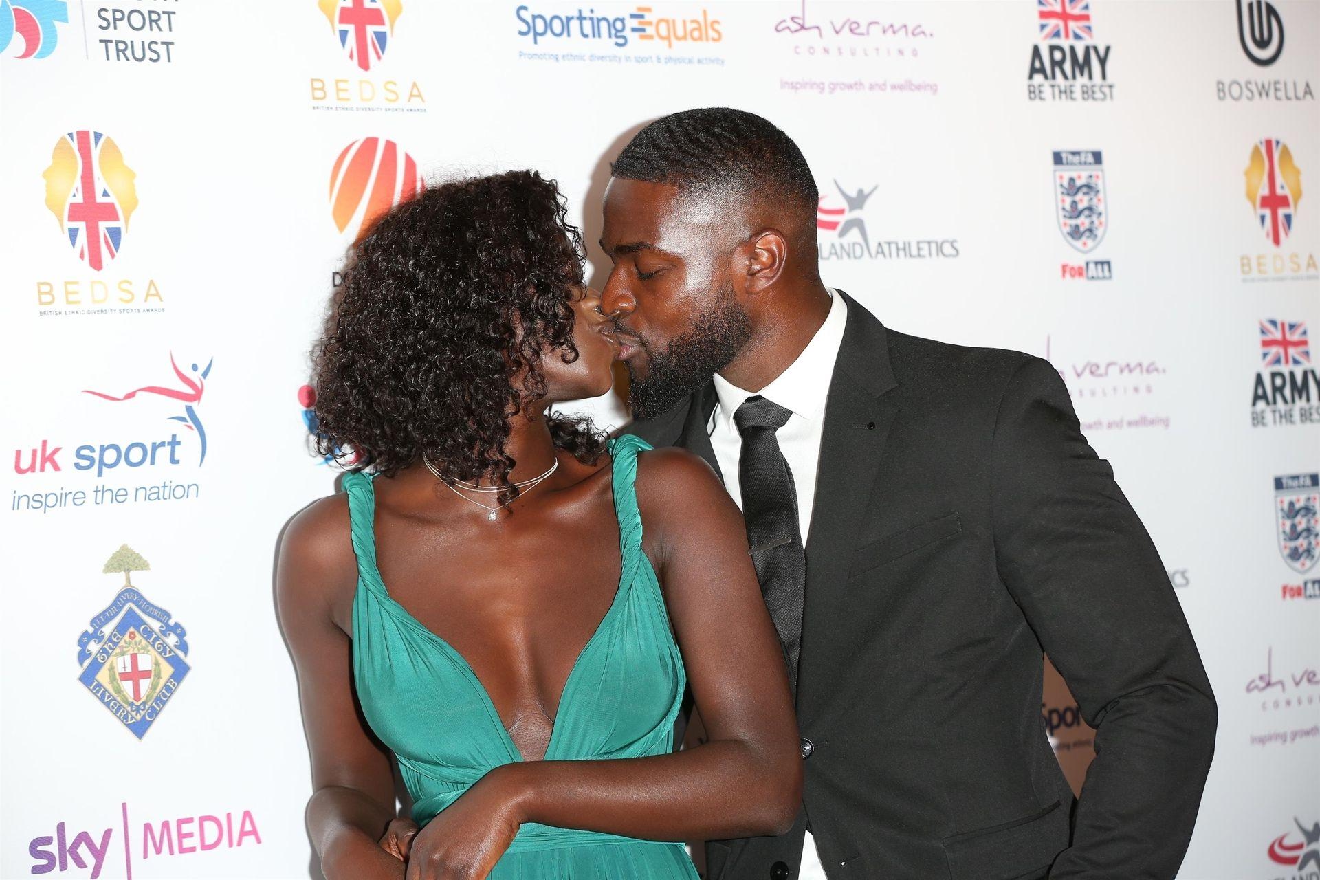 Mike Boateng & Priscilla Anyabu Are Seen At British Ethnic Diversity Sports Awards 0063