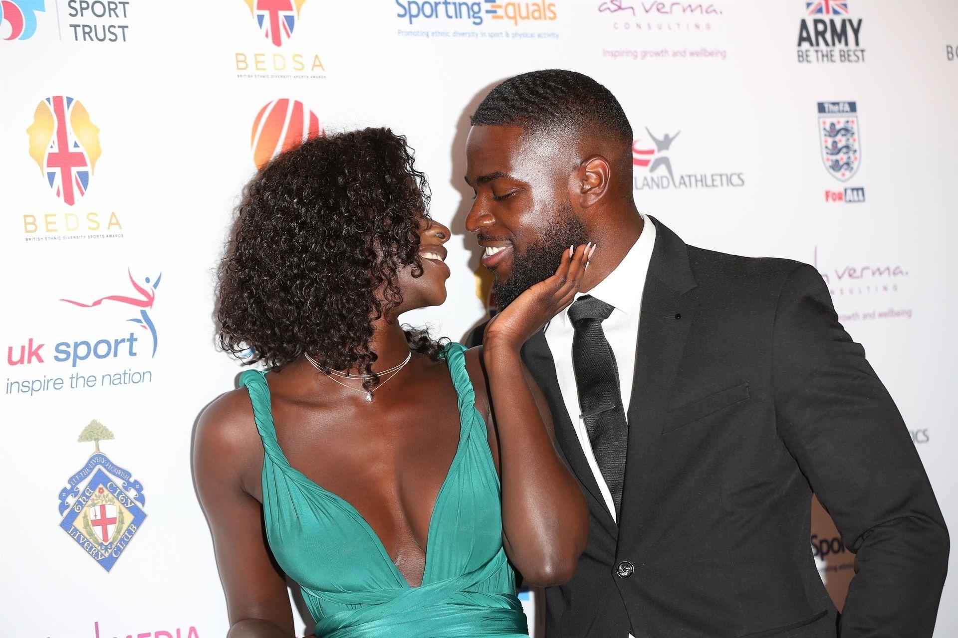 Mike Boateng & Priscilla Anyabu Are Seen At British Ethnic Diversity Sports Awards 0065