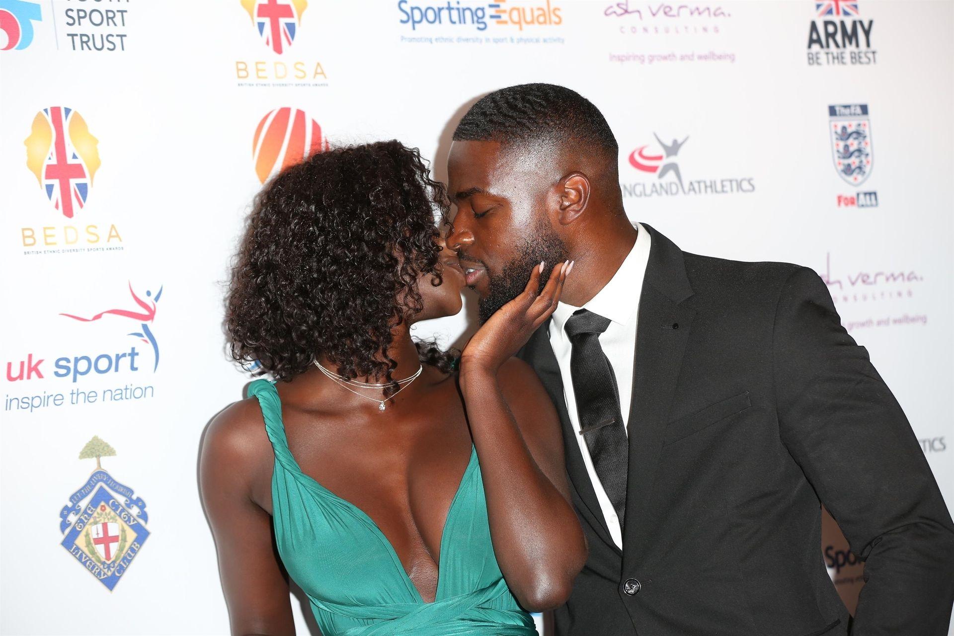 Mike Boateng & Priscilla Anyabu Are Seen At British Ethnic Diversity Sports Awards 0067