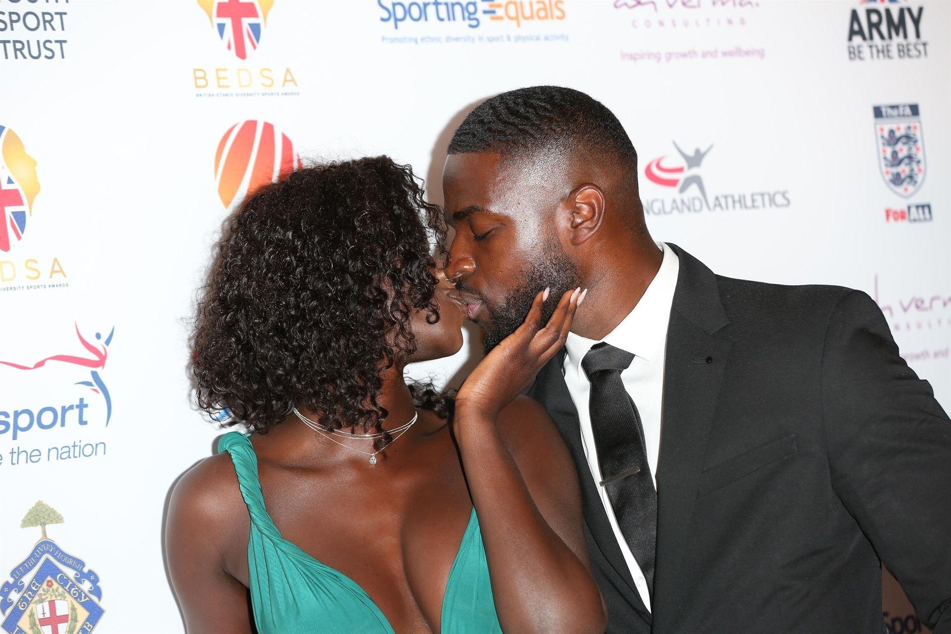 Mike Boateng & Priscilla Anyabu Are Seen At British Ethnic Diversity Sports Awards 0069