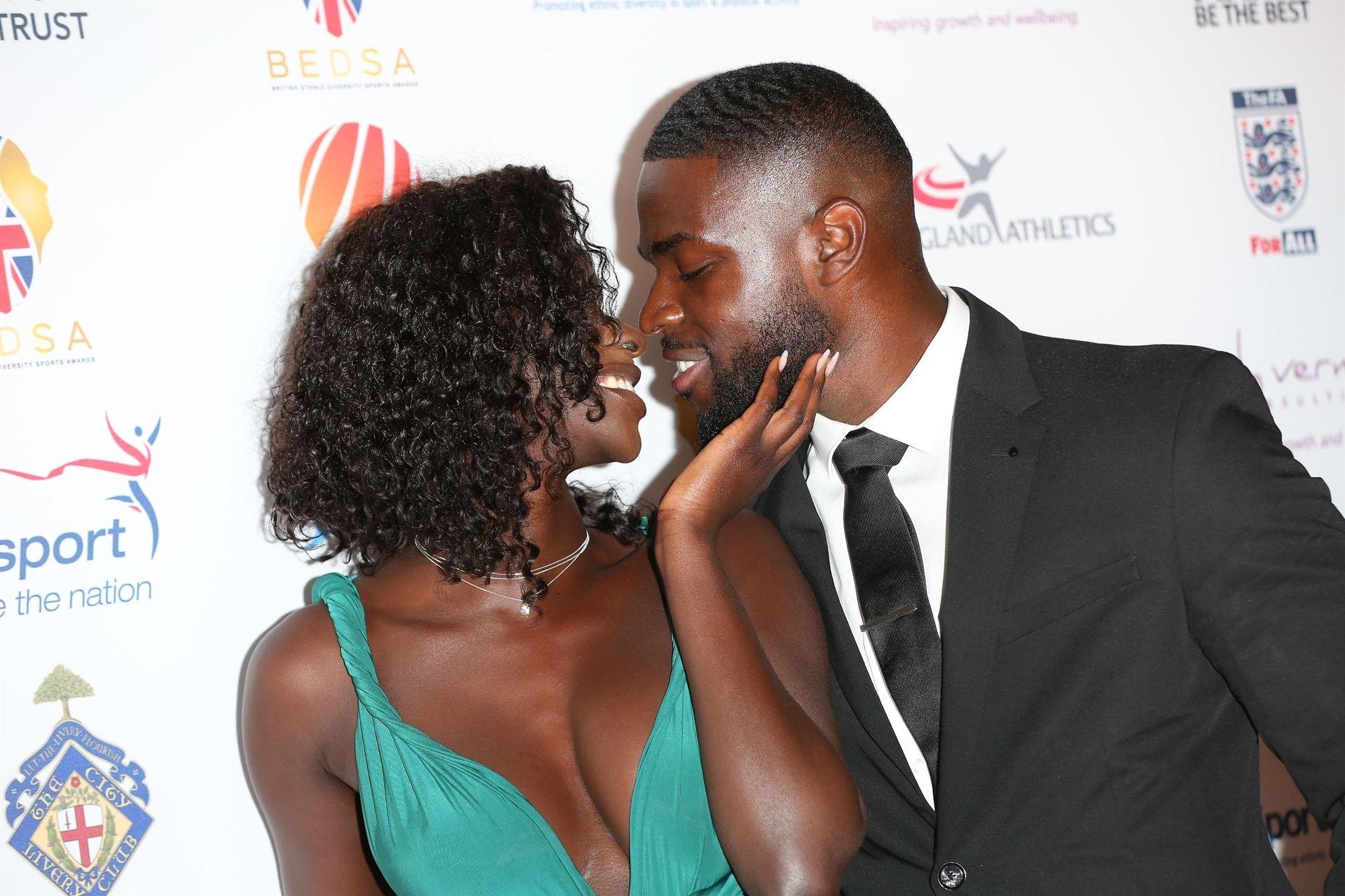 Mike Boateng & Priscilla Anyabu Are Seen At British Ethnic Diversity Sports Awards 0070