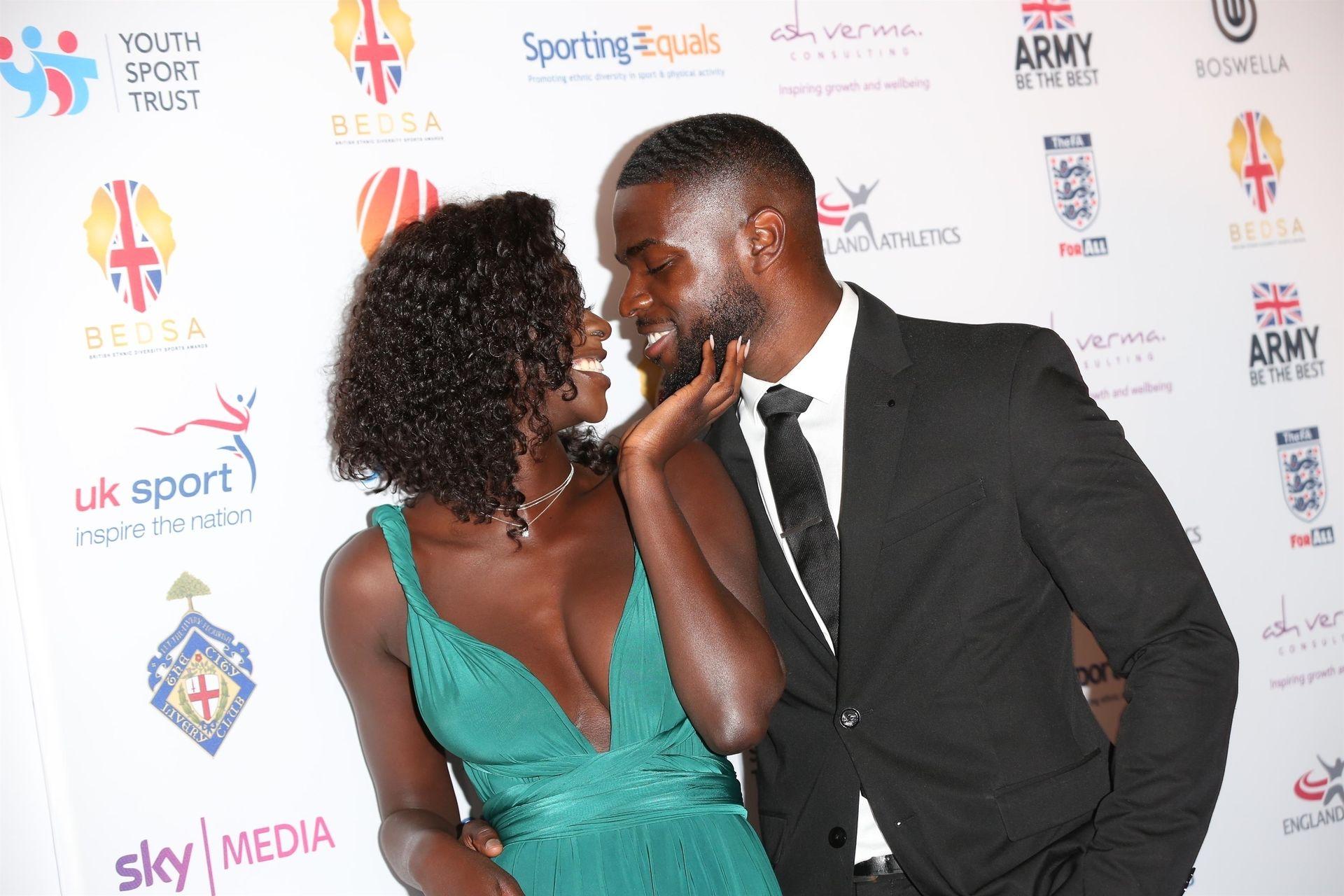 Mike Boateng & Priscilla Anyabu Are Seen At British Ethnic Diversity Sports Awards 0071