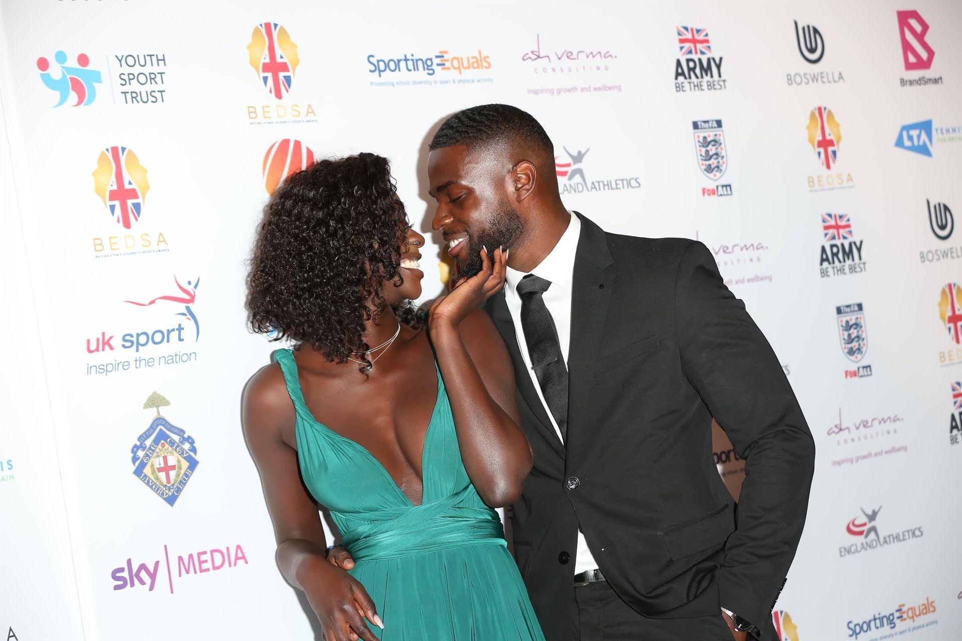 Mike Boateng & Priscilla Anyabu Are Seen At British Ethnic Diversity Sports Awards 0072