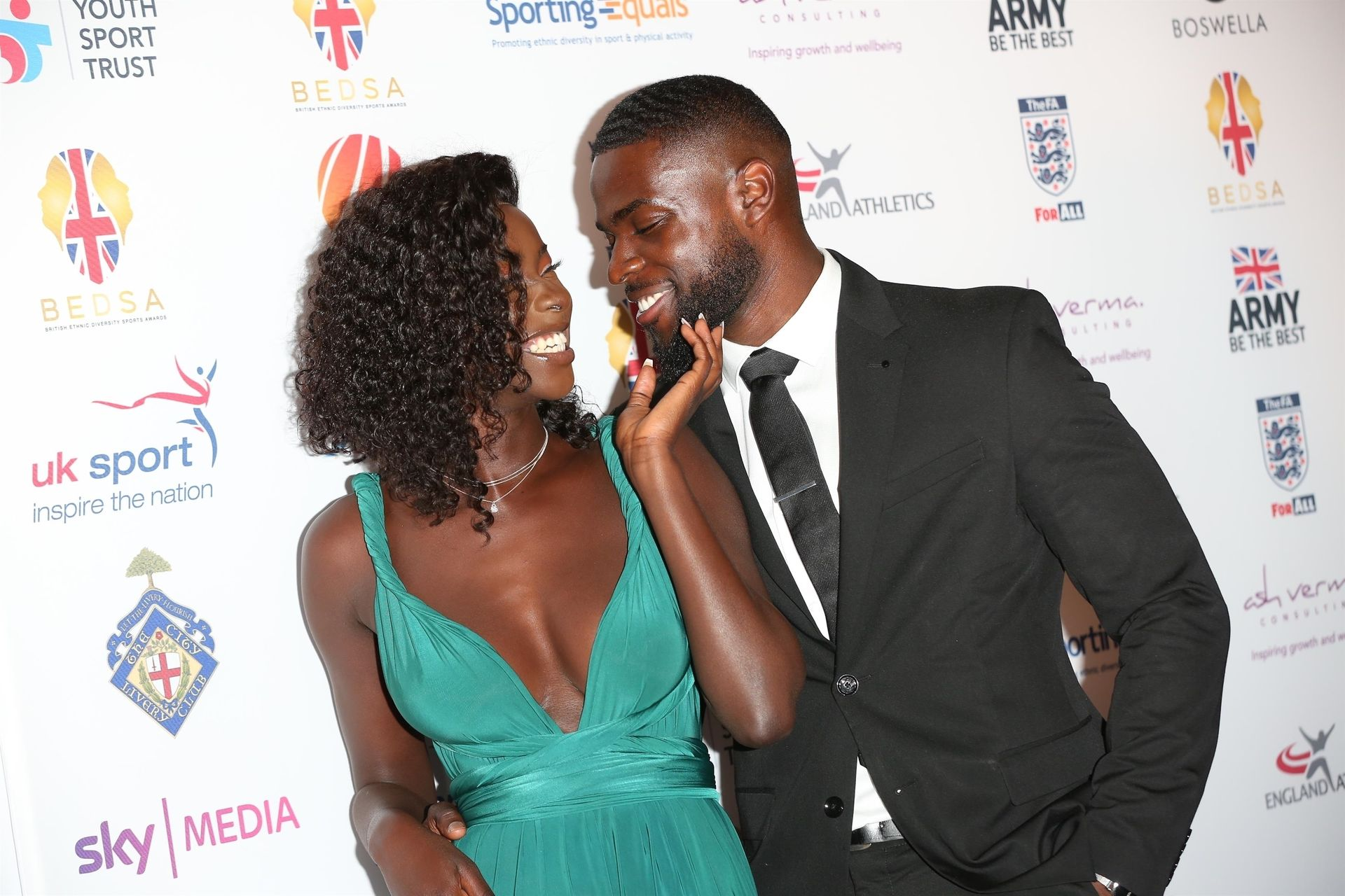Mike Boateng & Priscilla Anyabu Are Seen At British Ethnic Diversity Sports Awards 0073
