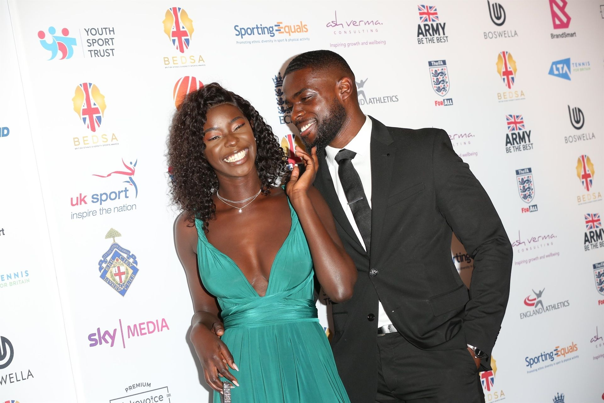 Mike Boateng & Priscilla Anyabu Are Seen At British Ethnic Diversity Sports Awards 0074