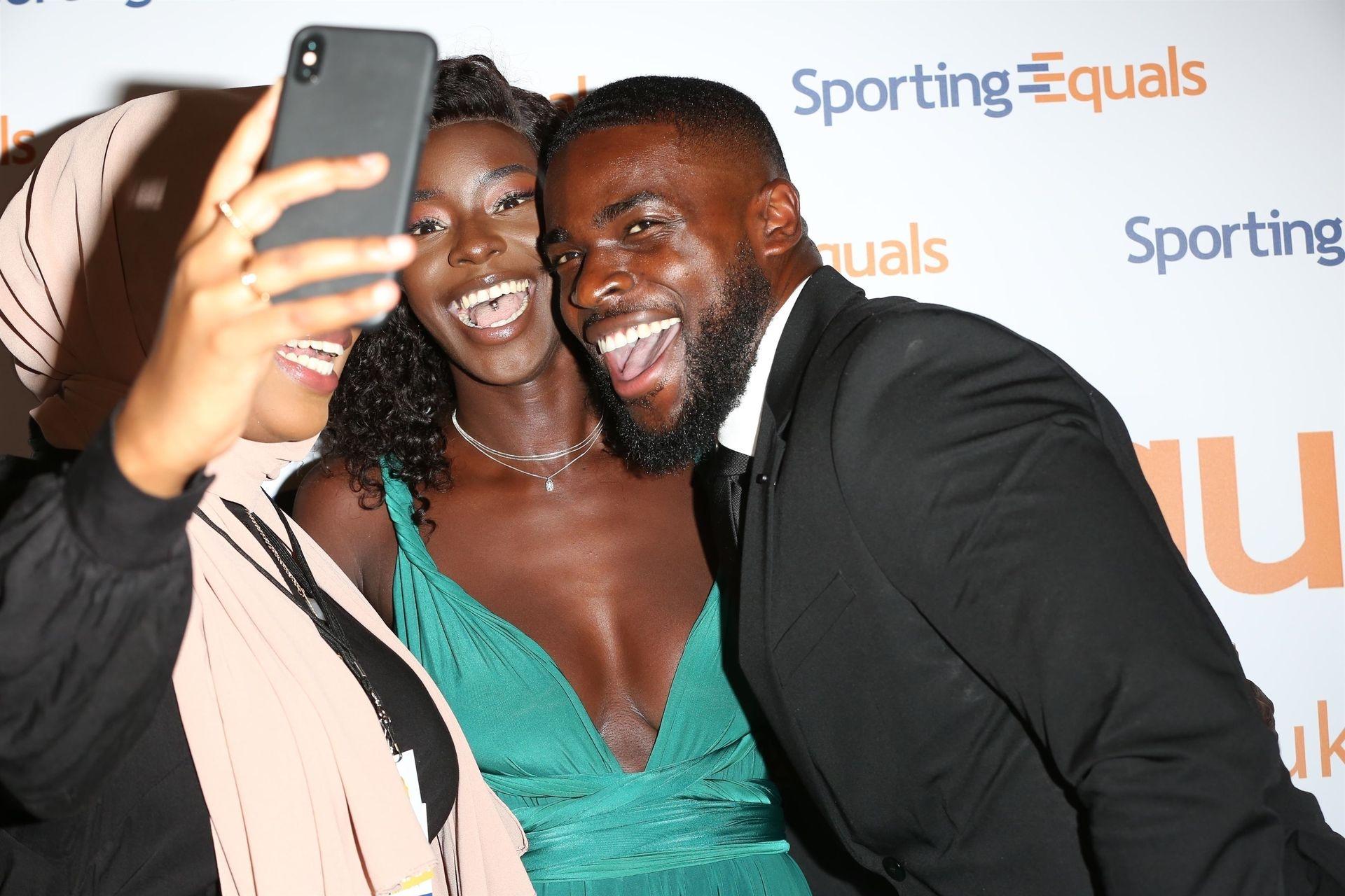 Mike Boateng & Priscilla Anyabu Are Seen At British Ethnic Diversity Sports Awards 0075