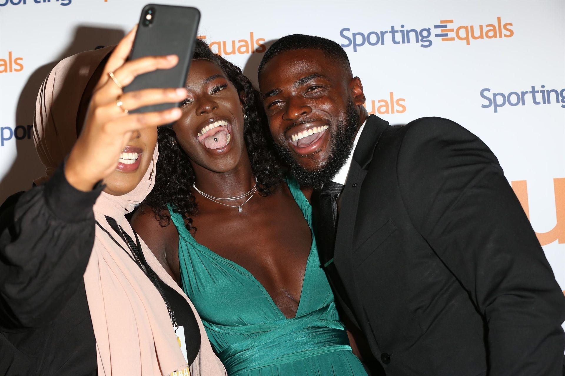 Mike Boateng & Priscilla Anyabu Are Seen At British Ethnic Diversity Sports Awards 0078
