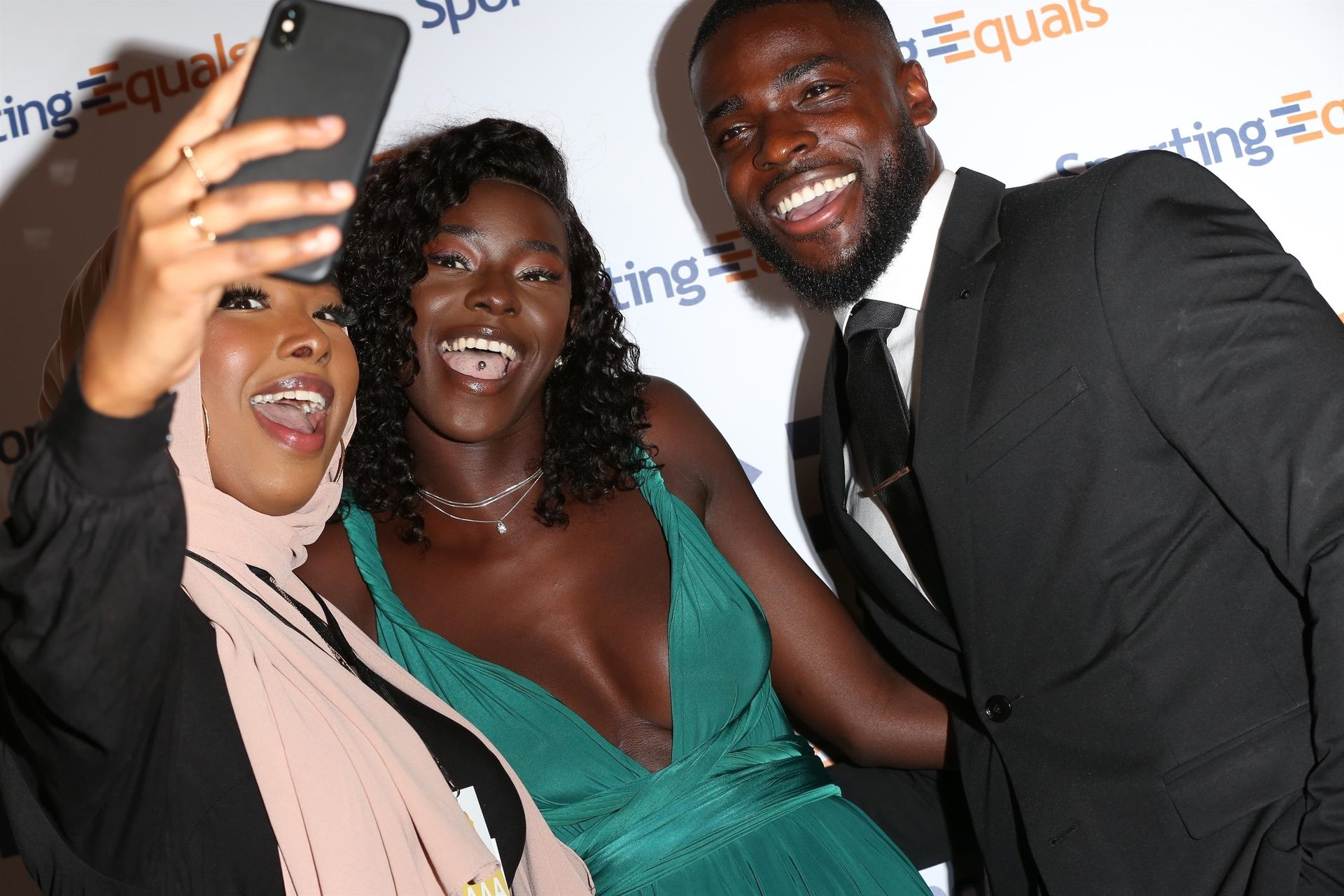 Mike Boateng & Priscilla Anyabu Are Seen At British Ethnic Diversity Sports Awards 0085