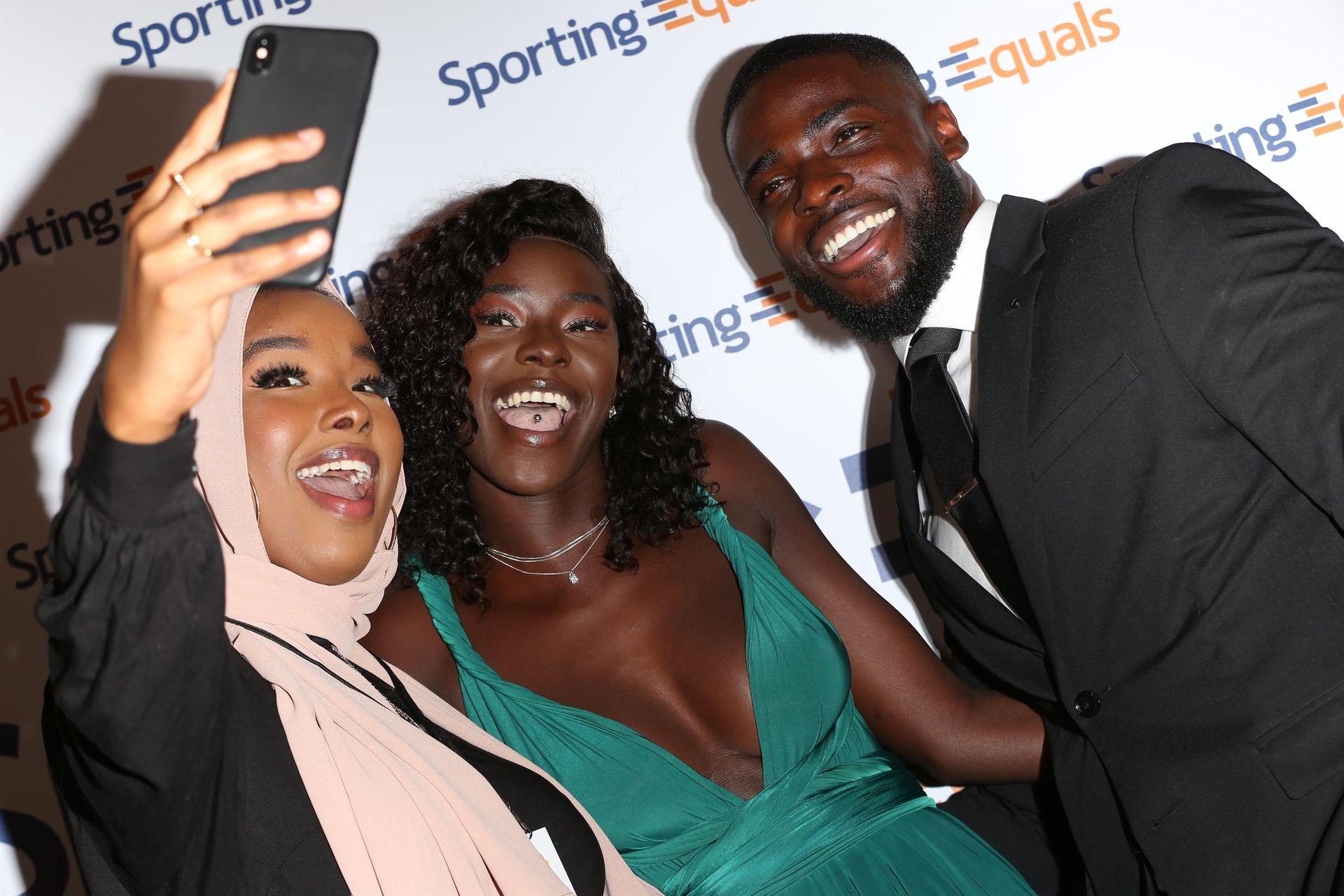 Mike Boateng & Priscilla Anyabu Are Seen At British Ethnic Diversity Sports Awards 0086