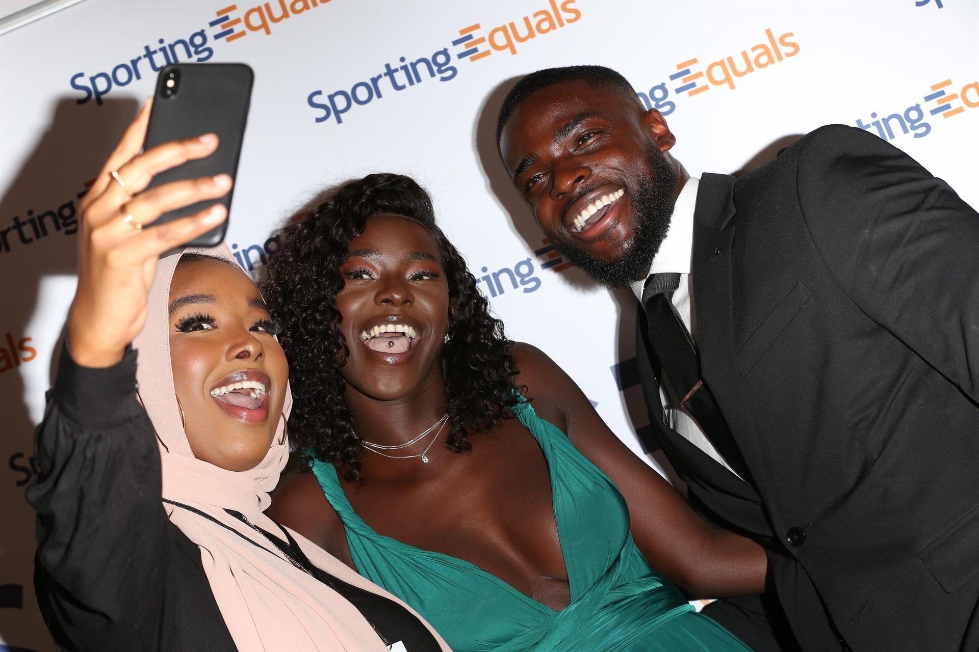 Mike Boateng & Priscilla Anyabu Are Seen At British Ethnic Diversity Sports Awards 0087