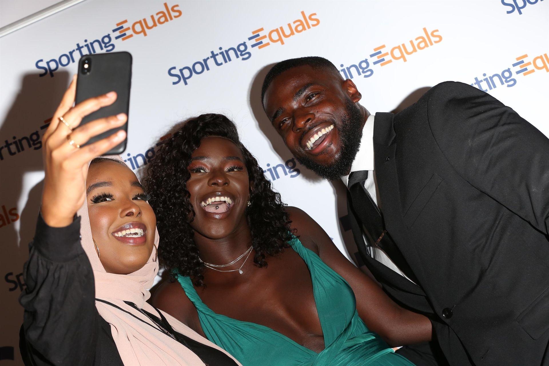 Mike Boateng & Priscilla Anyabu Are Seen At British Ethnic Diversity Sports Awards 0088