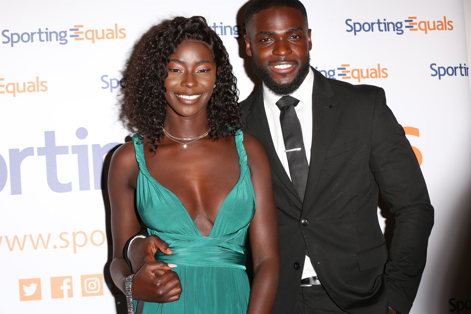 Mike Boateng & Priscilla Anyabu Are Seen At British Ethnic Diversity Sports Awards 0092
