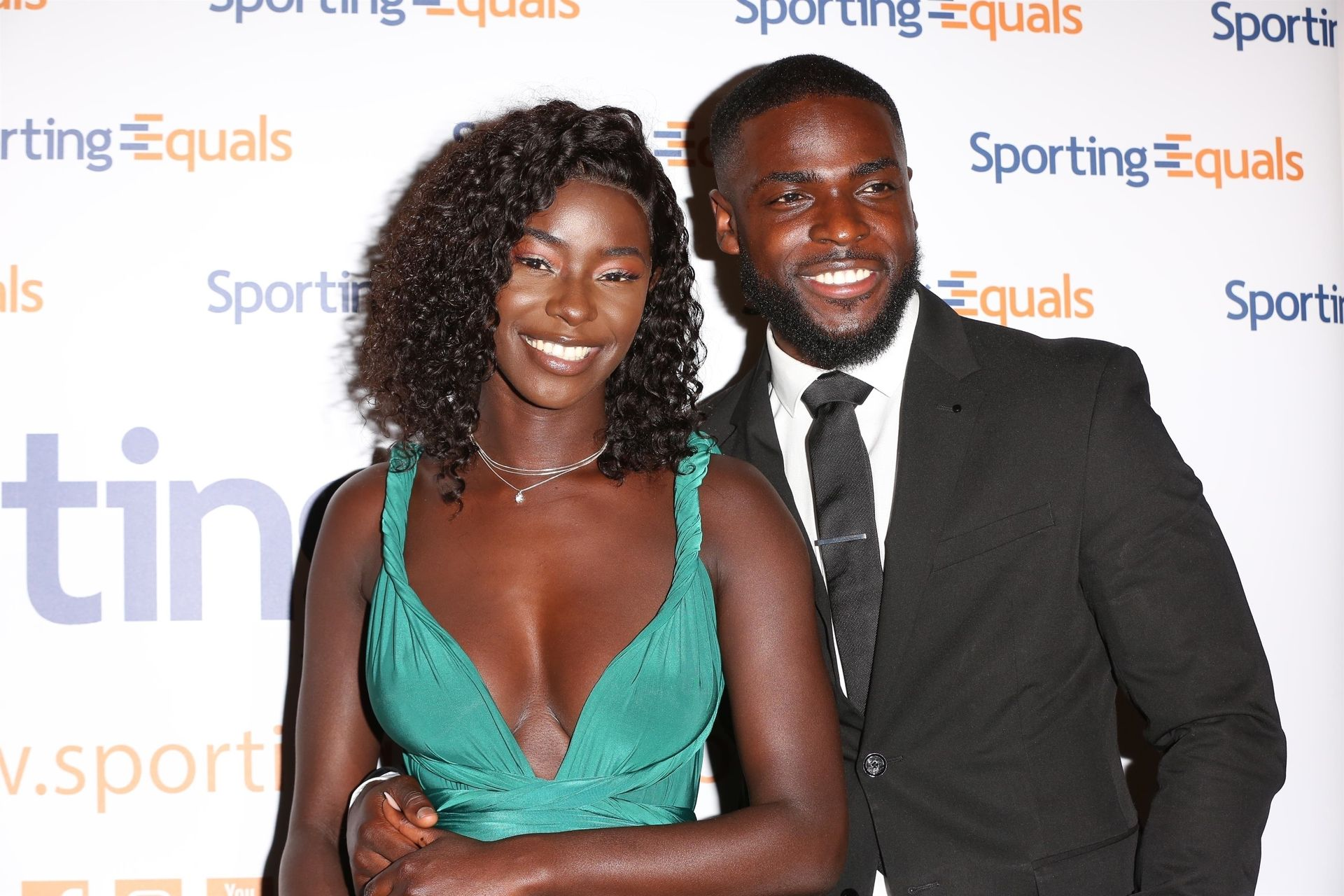 Mike Boateng & Priscilla Anyabu Are Seen At British Ethnic Diversity Sports Awards 0116