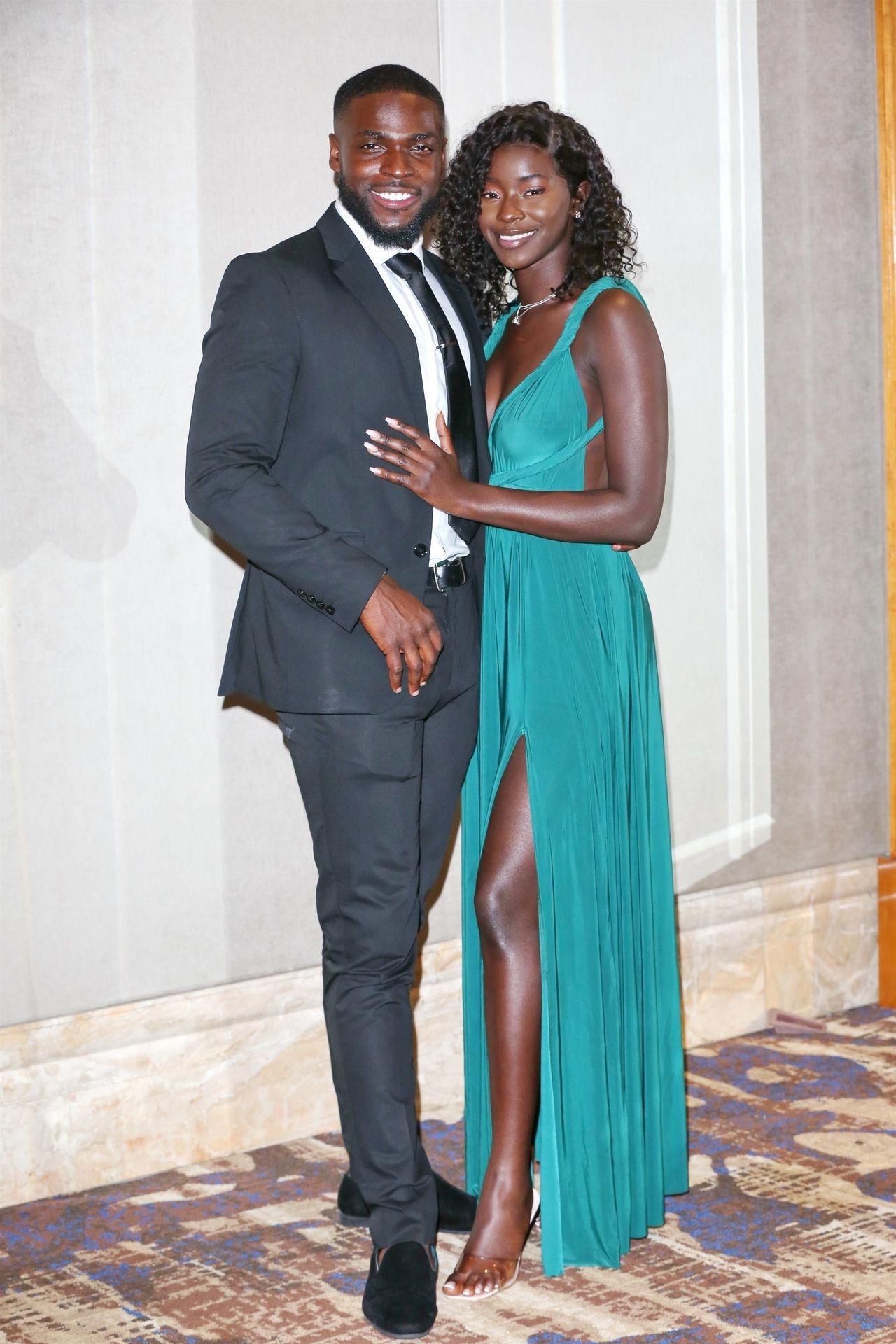 Mike Boateng & Priscilla Anyabu Are Seen At British Ethnic Diversity Sports Awards 0121
