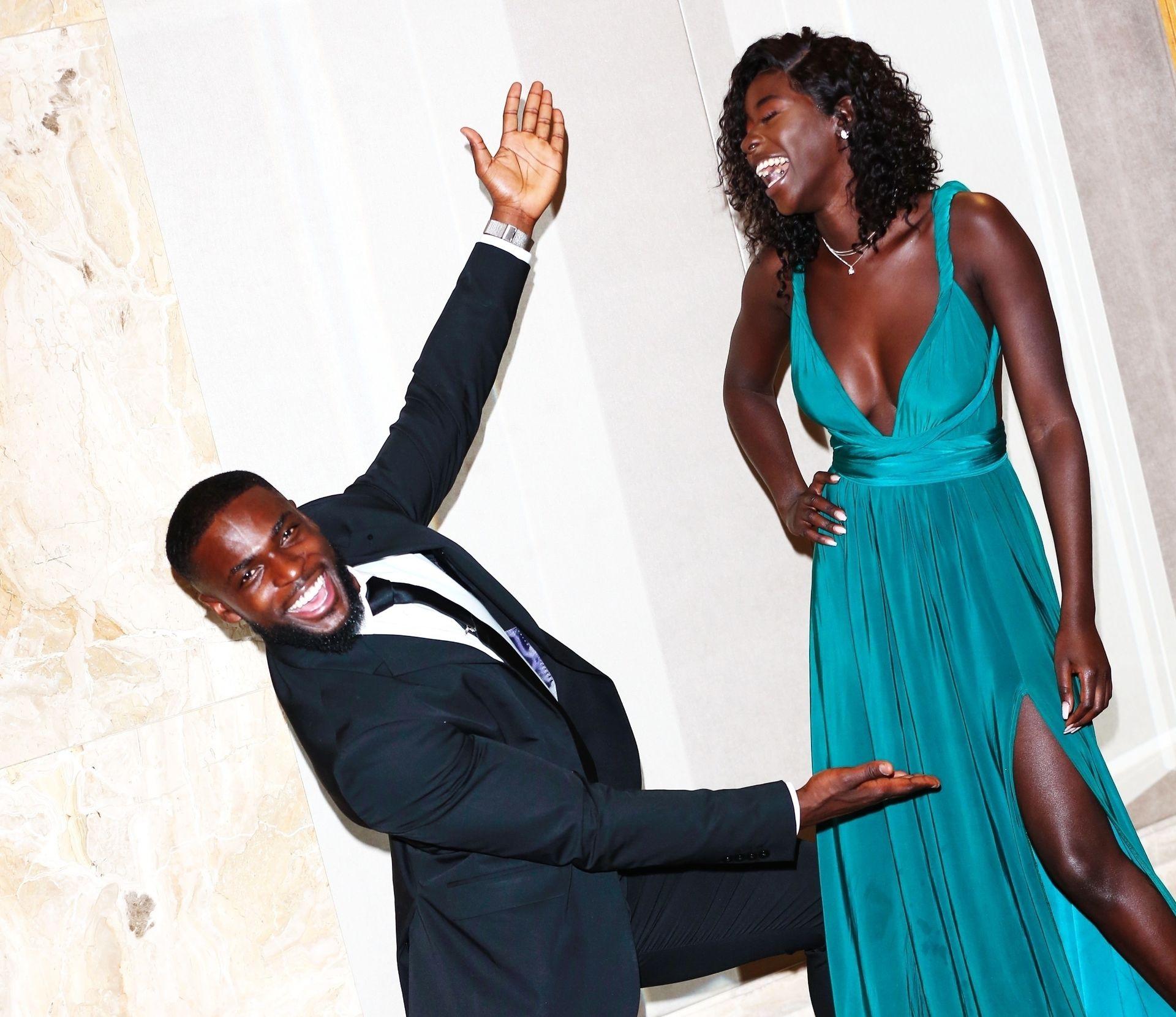 Mike Boateng & Priscilla Anyabu Are Seen At British Ethnic Diversity Sports Awards 0122