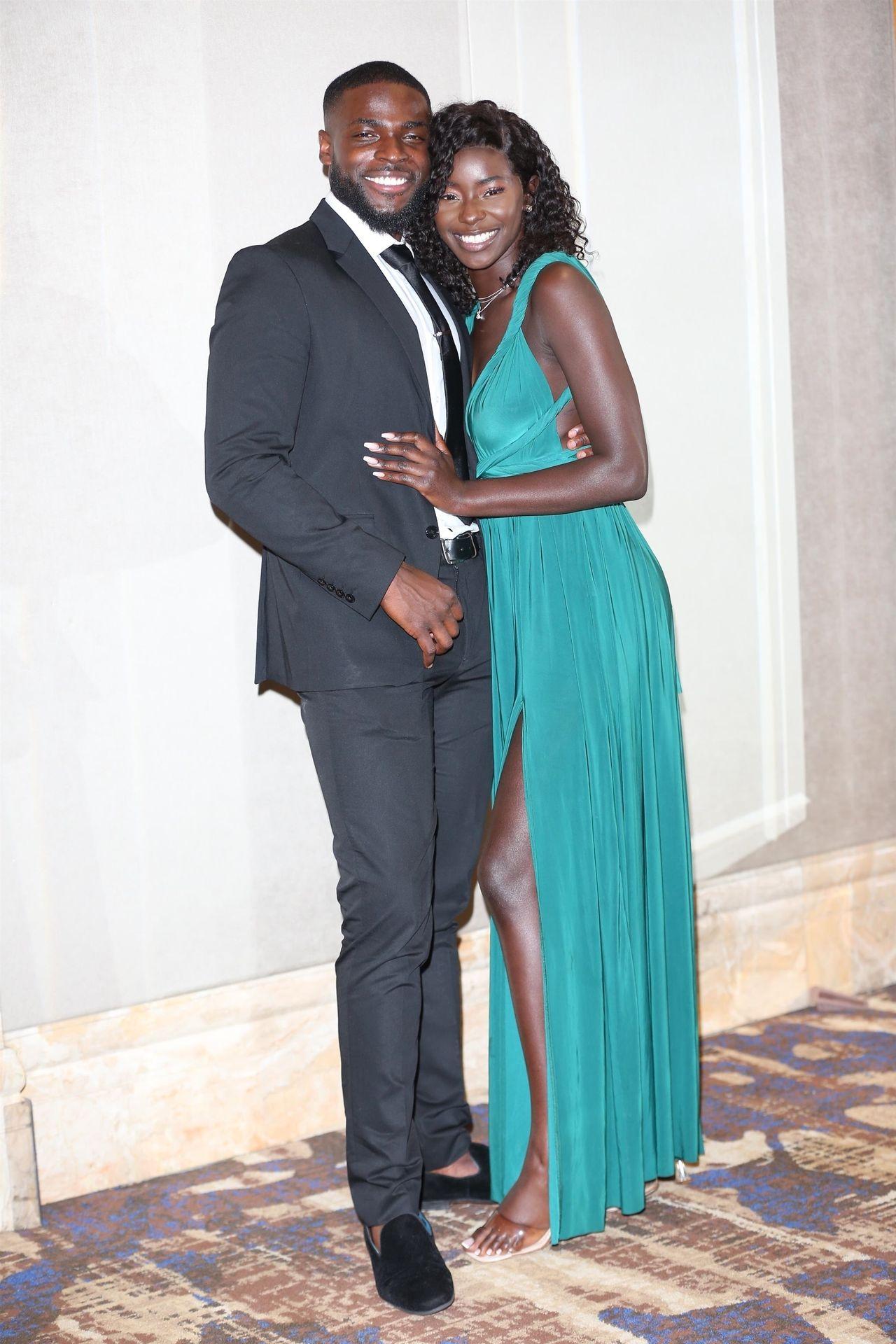 Mike Boateng & Priscilla Anyabu Are Seen At British Ethnic Diversity Sports Awards 0128