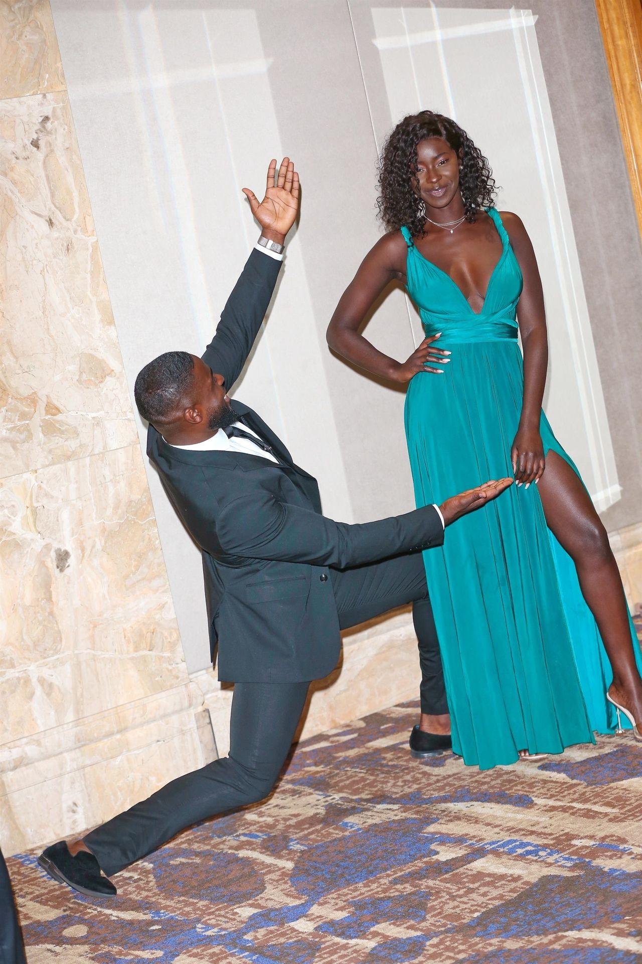 Mike Boateng & Priscilla Anyabu Are Seen At British Ethnic Diversity Sports Awards 0141